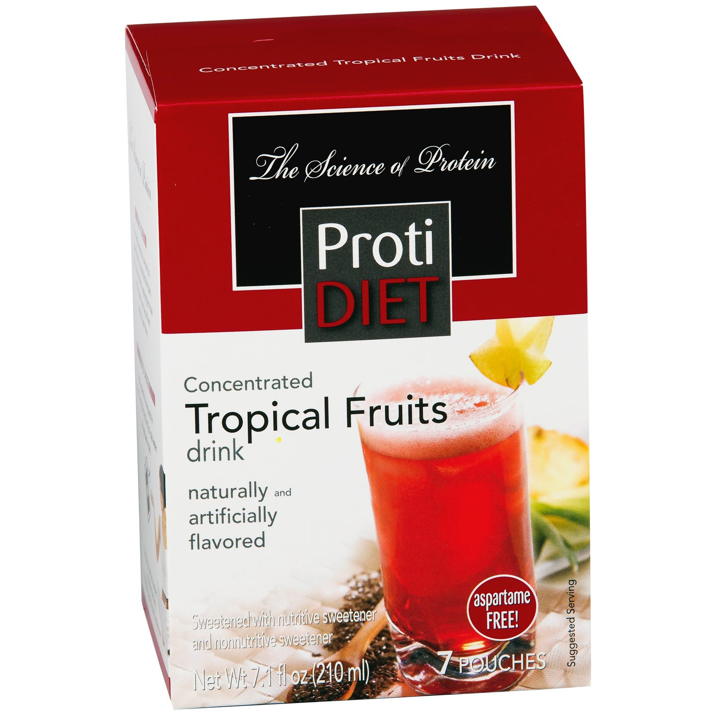 Protein Fruit Drink Concentrate Tropical Fruits (7 ct) - ProtiDiet - Rapid Diet Weight Loss Products Shop
