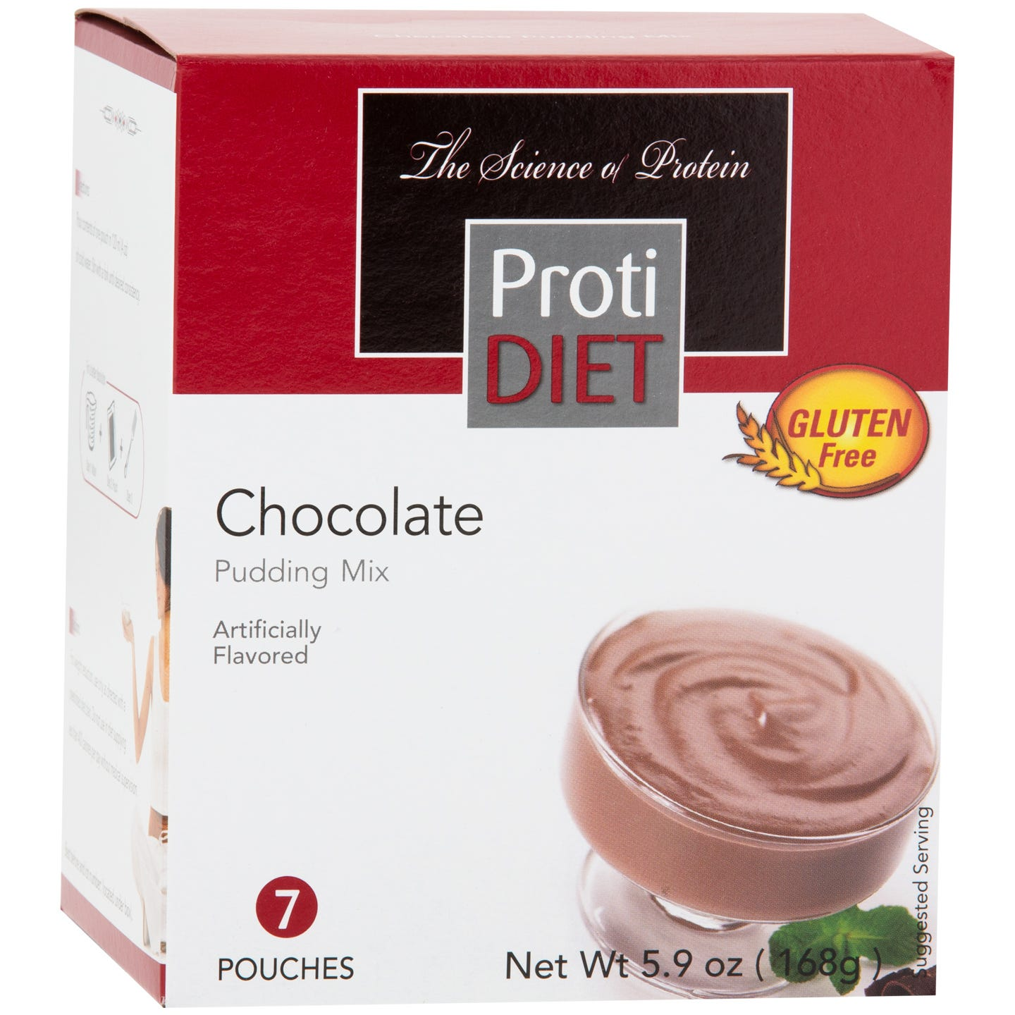 Protein Instant Pudding Chocolate (7 Ct) - ProtiDiet