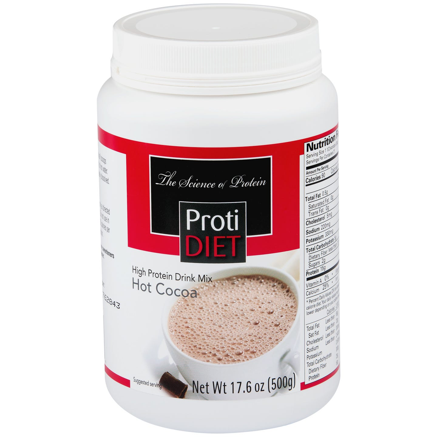 High Protein Hot Cocoa 17.6 oz, ProtiDiet - Rapid Diet Weight Loss Products Shop
