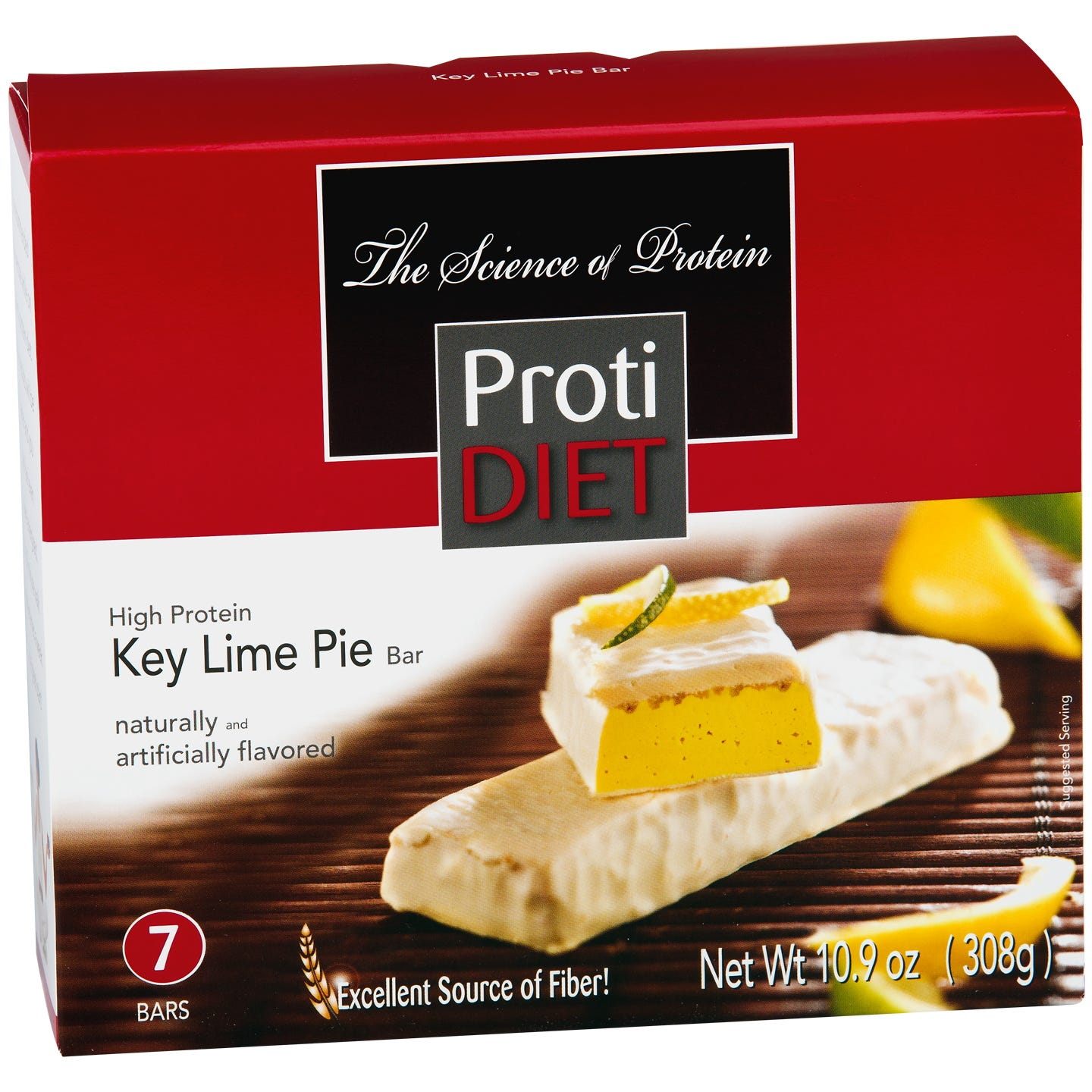 ProtiDiet High Fiber Protein Bars - Key Lime Pie