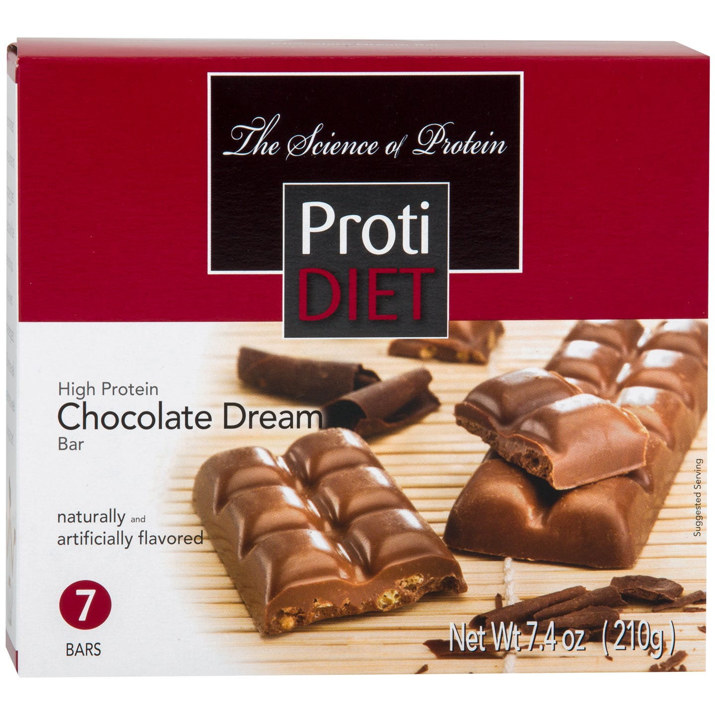 High Protein Sugar Free Chocolate Dream Bar (7 Ct) - ProtiDiet
