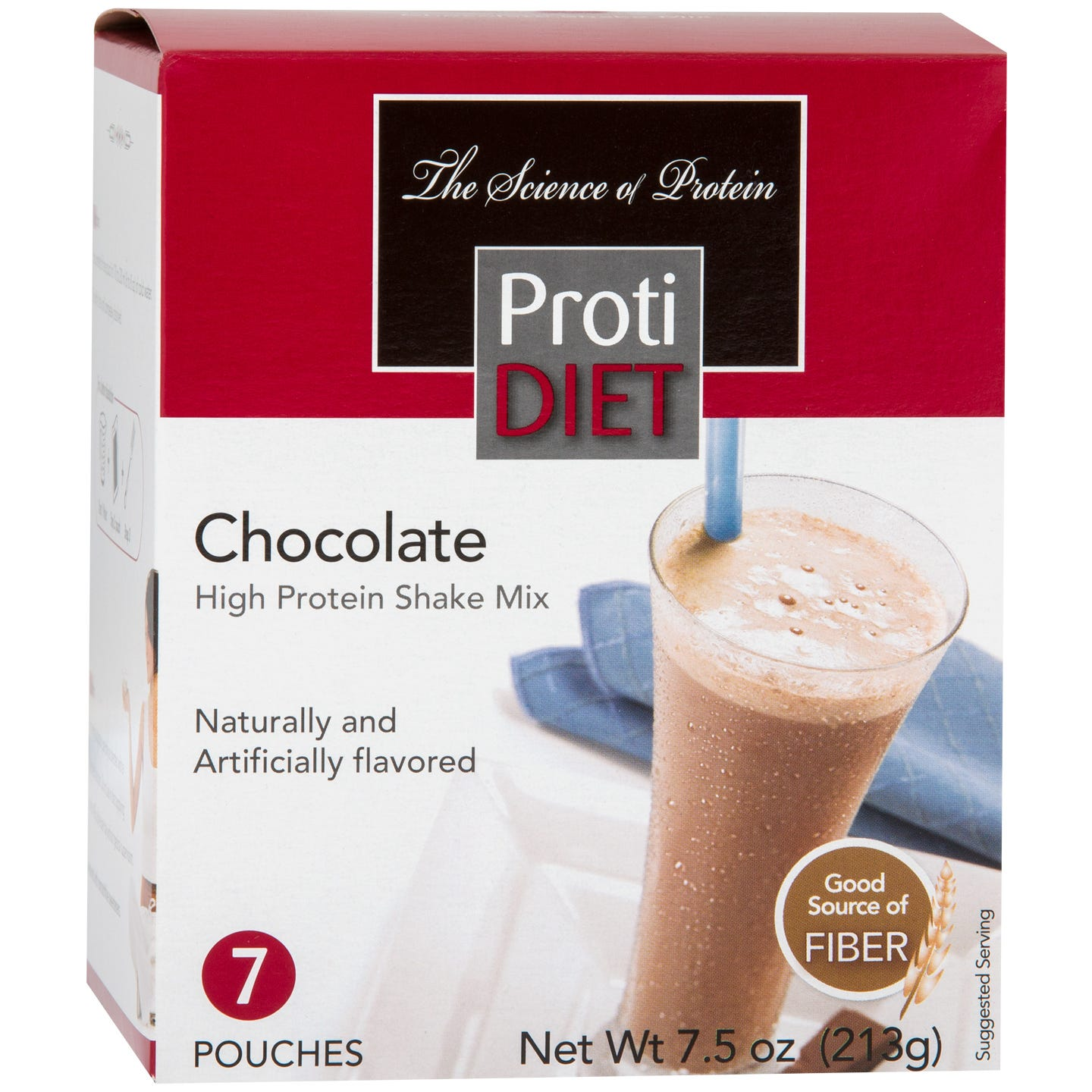 High Protein Shake Mix Chocolate (7 ct) – ProtiDiet
