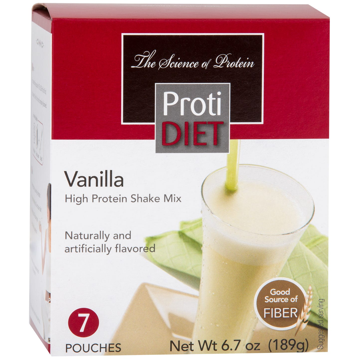 High Protein Shake Mix Vanilla (7 Ct) - ProtiDiet