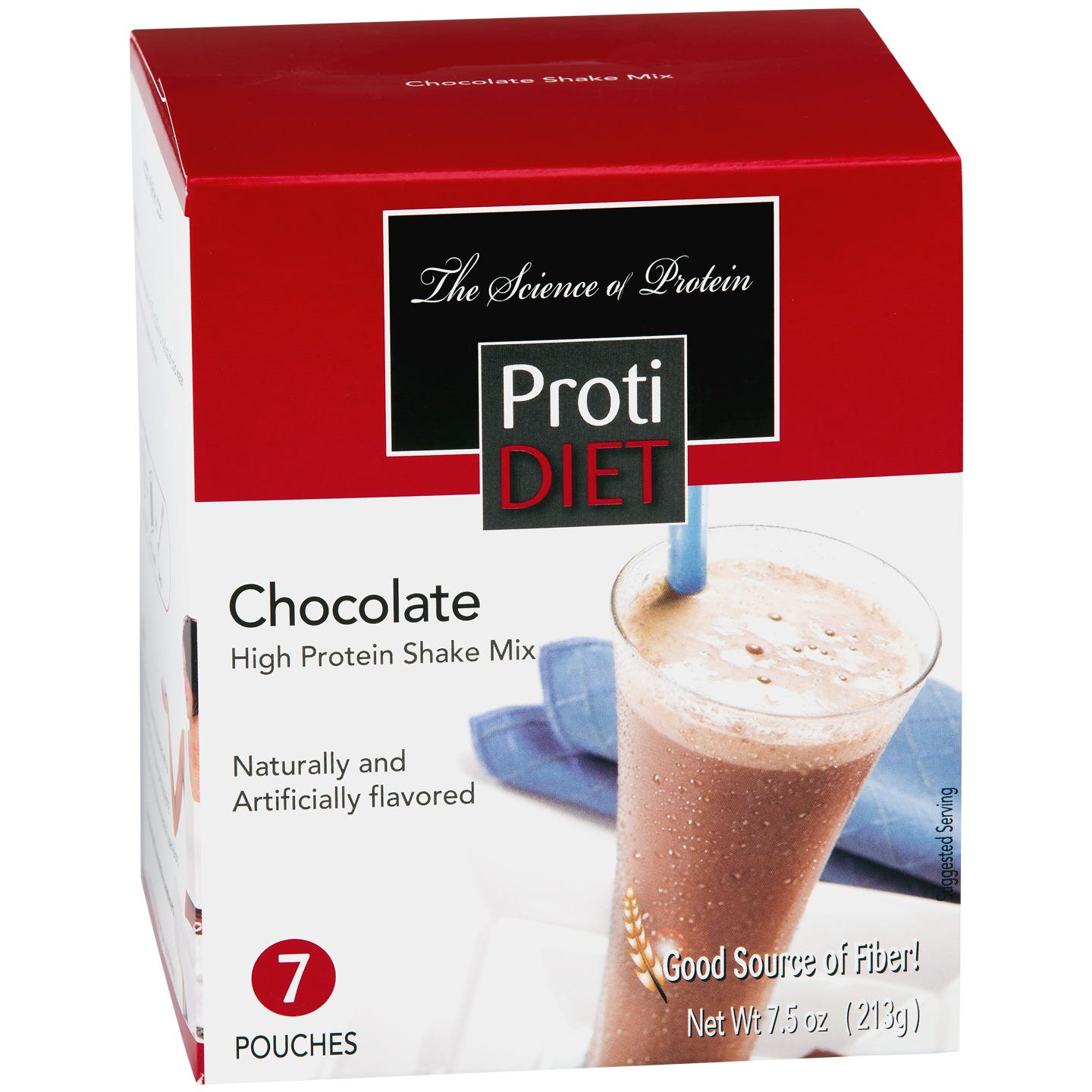 High Protein Shake Mix Chocolate (7 ct) - ProtiDiet - Rapid Diet Weight Loss Products Shop