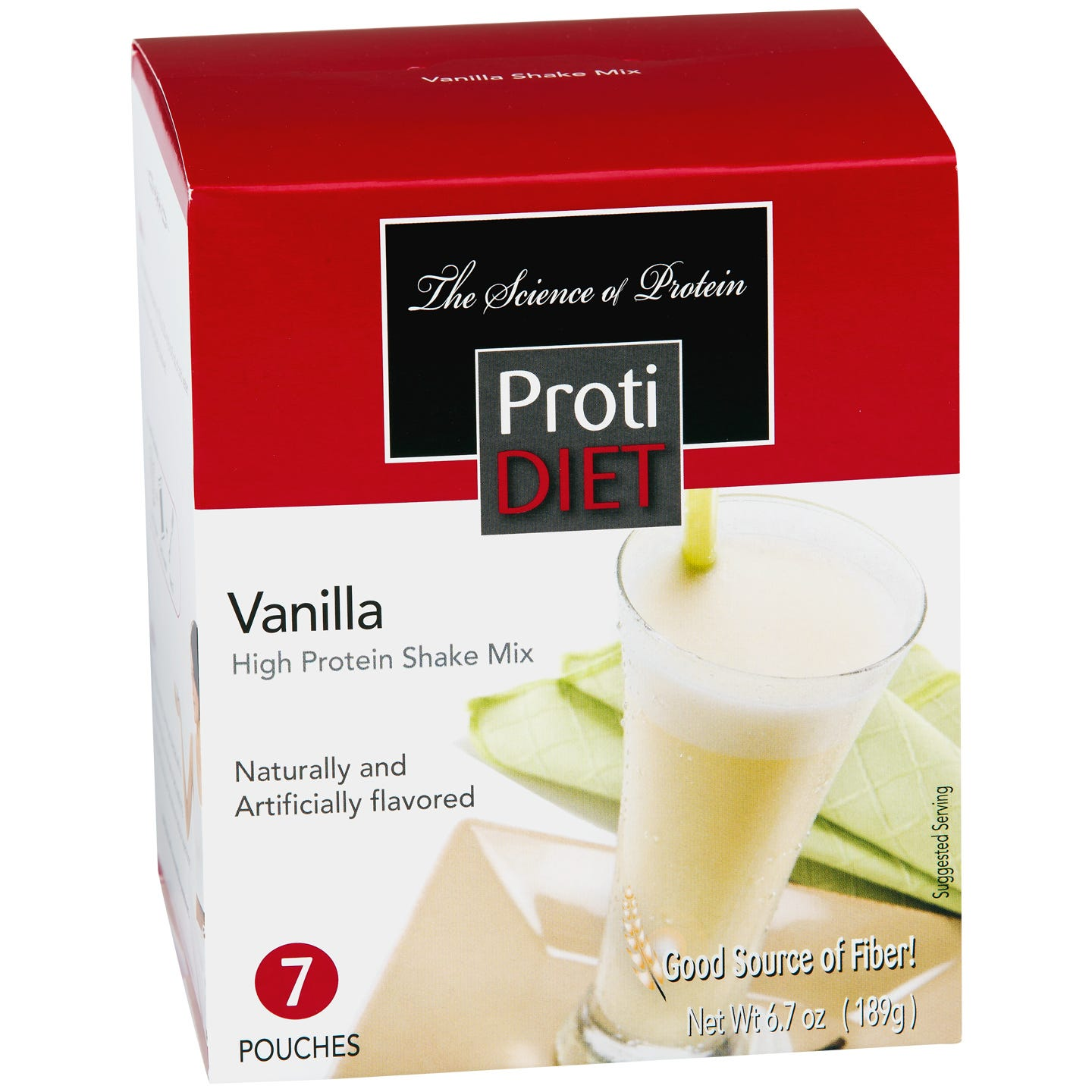 High Protein Shake Mix Vanilla (7 ct) - ProtiDiet - Rapid Diet Weight Loss Products Shop