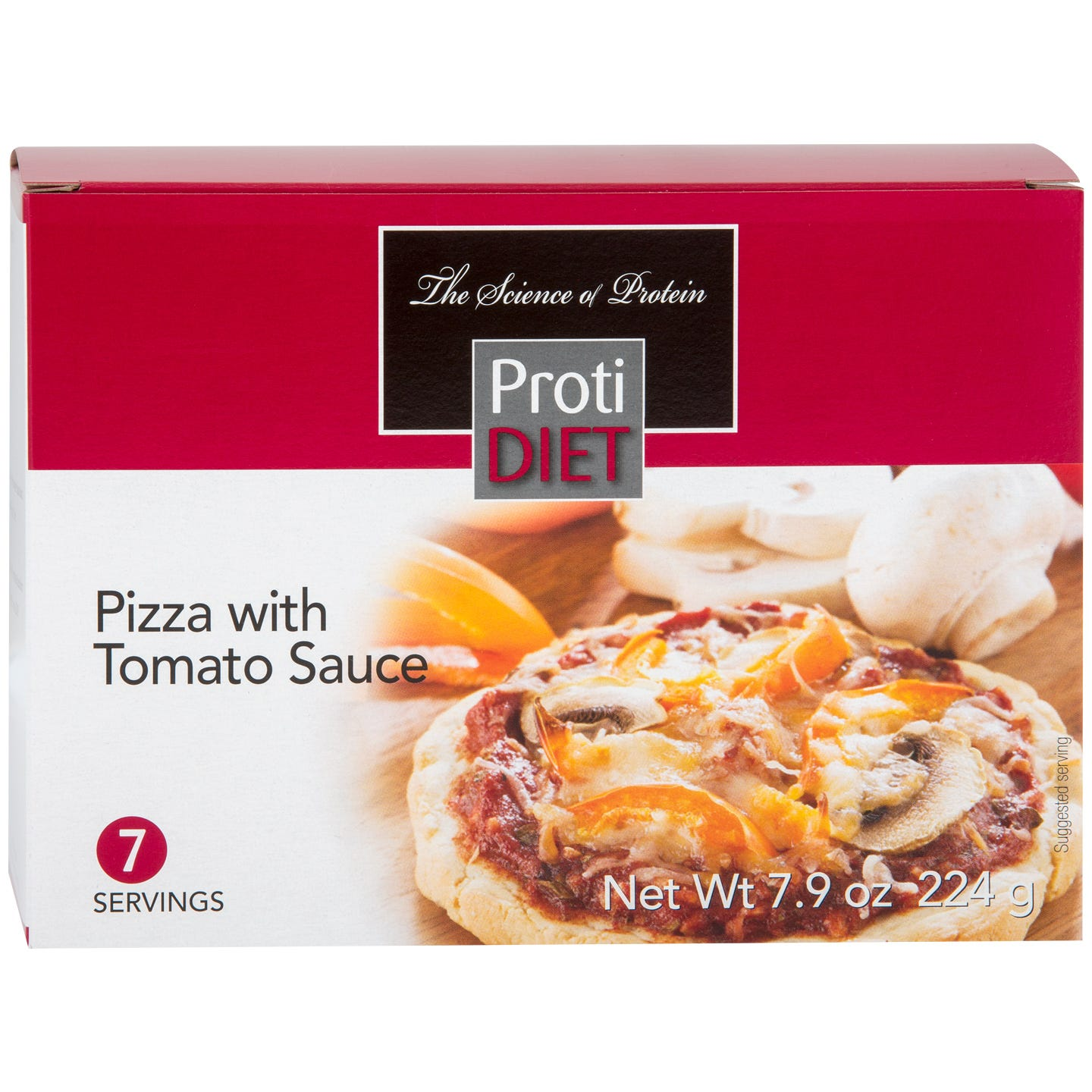Pizza With Tomato Sauce (7 Ct) - ProtiDiet