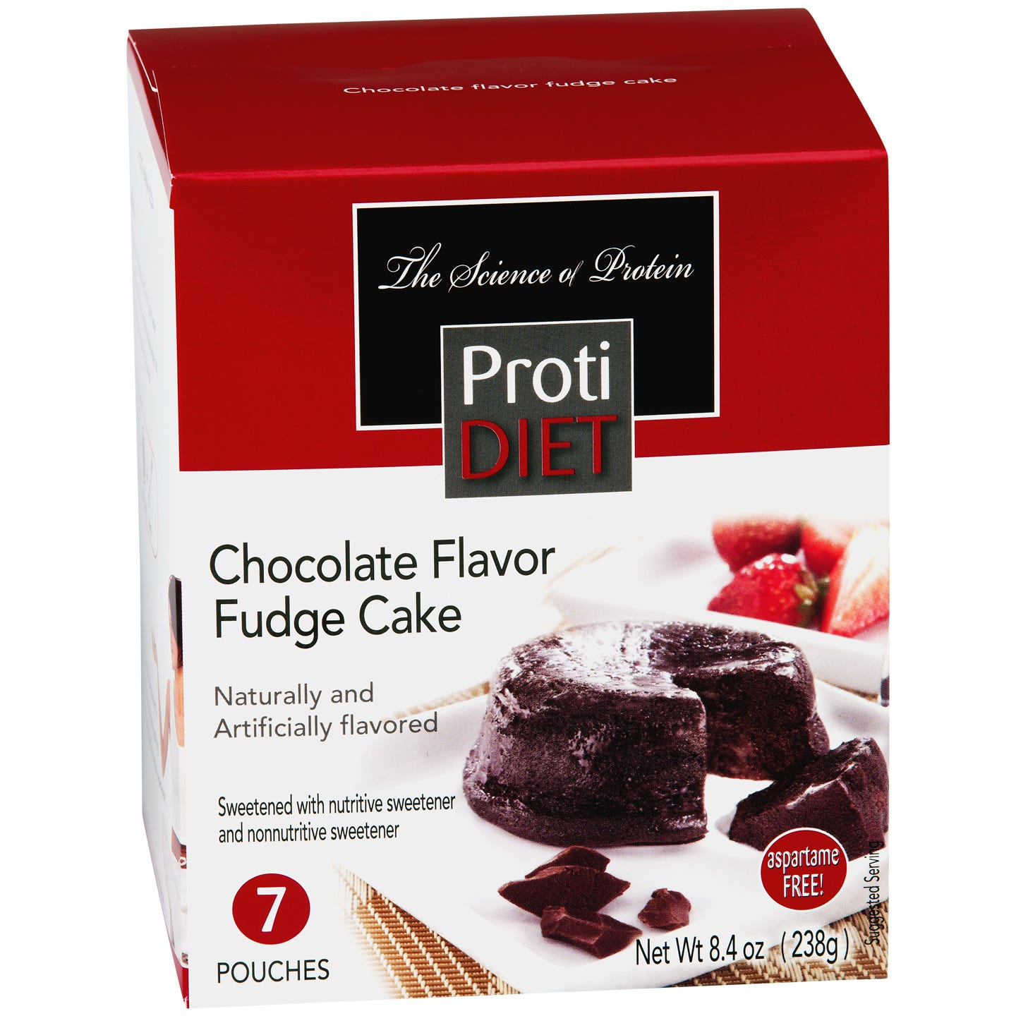 High Protein Chocolate Fudge Cake (7 ct) - ProtiDiet - Rapid Diet Weight Loss Products Shop
