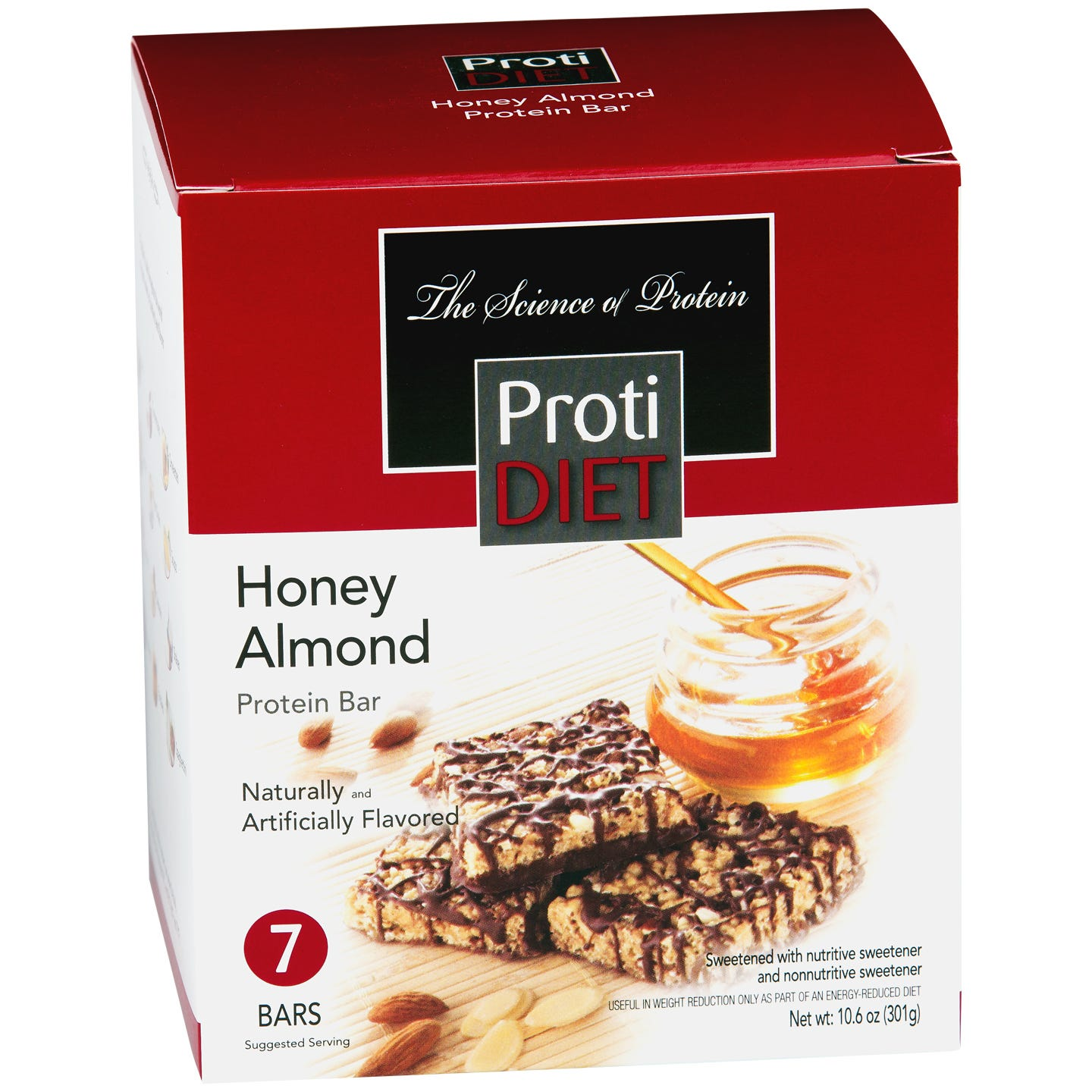 High Protein Squares Honey Almond (7 ct) - ProtiDiet - Rapid Diet Weight Loss Products Shop