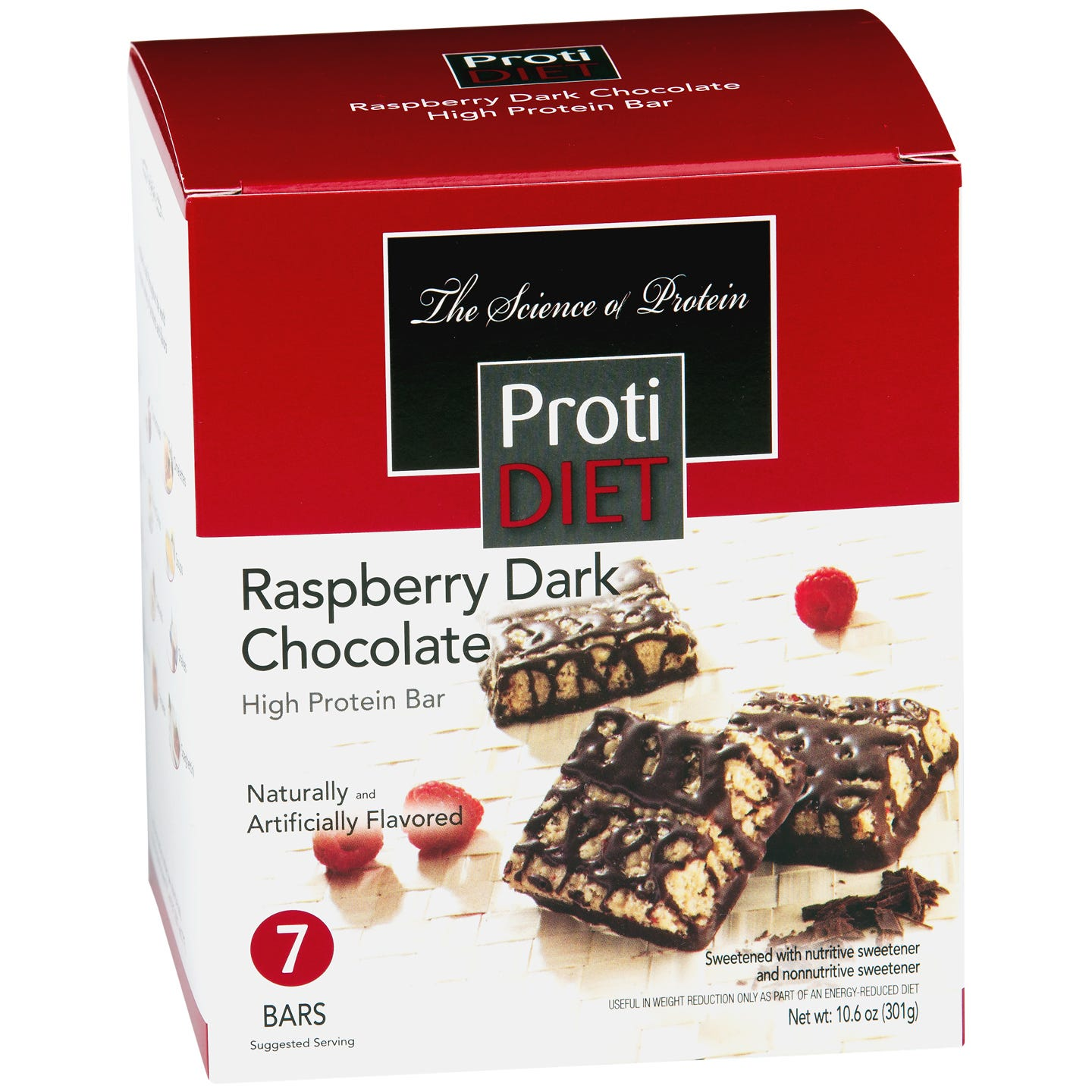 High Protein Squares Raspberry Dark Chocolate (7 ct) - ProtiDiet - Rapid Diet Weight Loss Products Shop