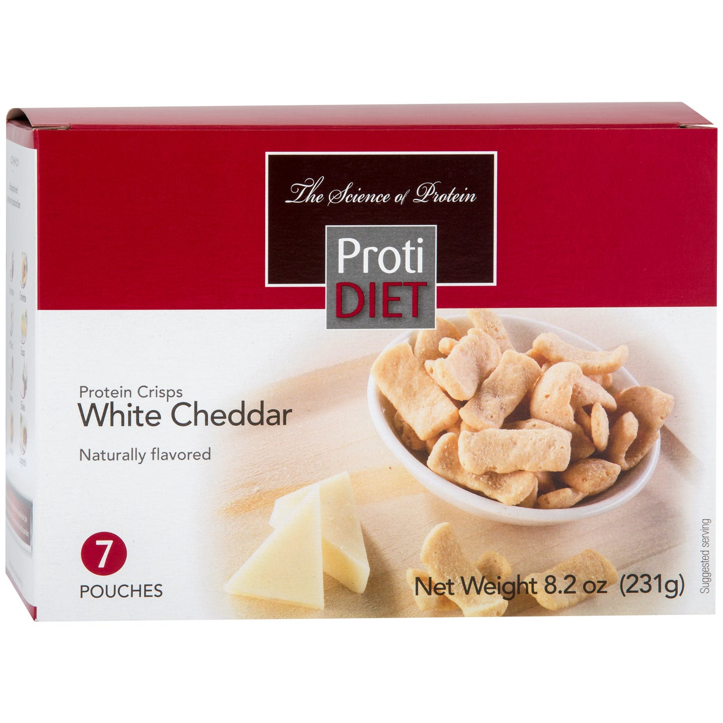 Protein Crisps White Cheddar (7 Ct) - ProtiDiet