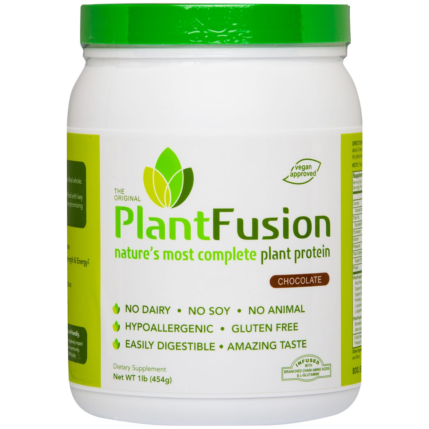 Plant Protein Powder Chocolate 1 lb, PlantFusion - Rapid Diet Weight Loss Products Shop