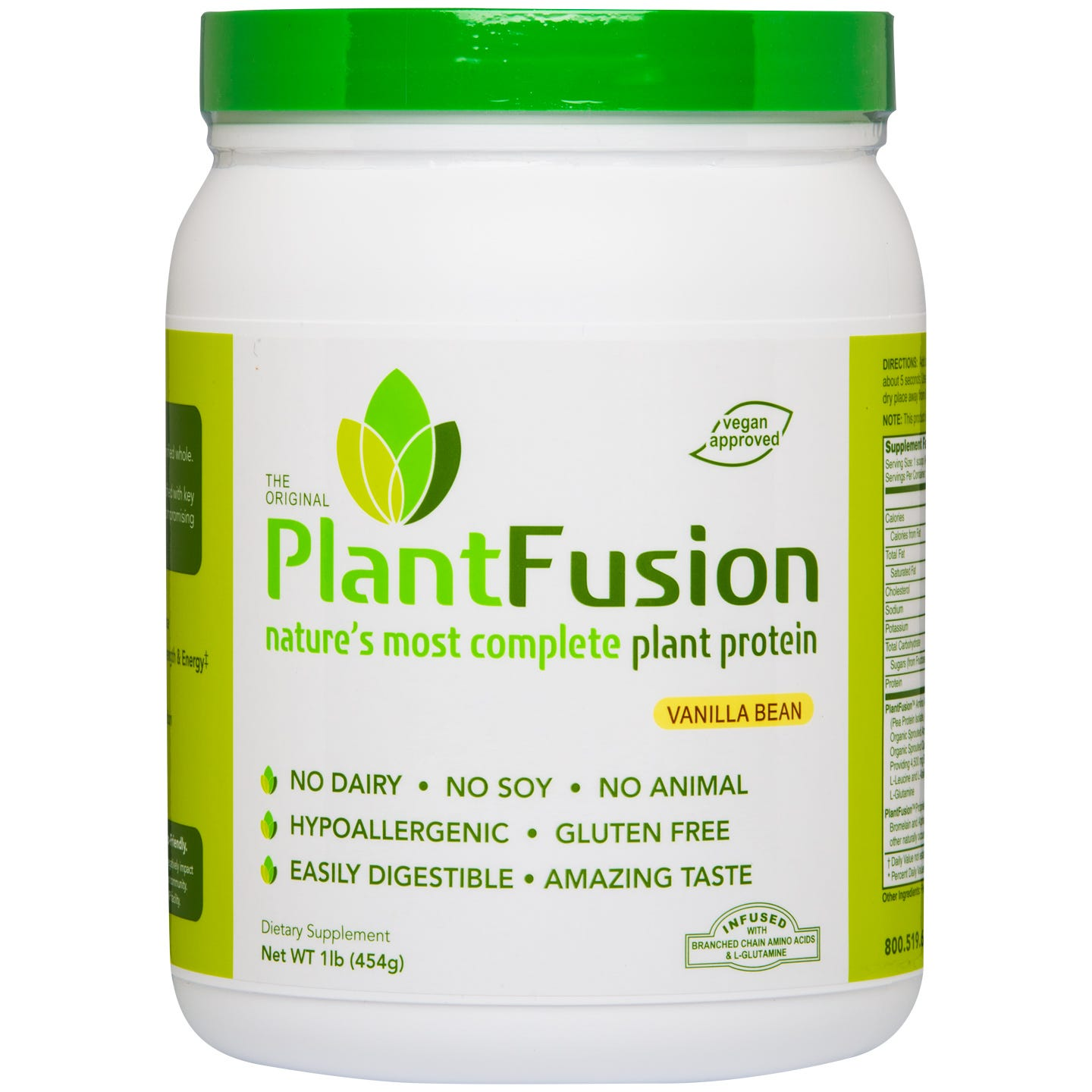 Plant Protein Powder Vanilla Bean 1lb, PlantFusion - Rapid Diet Weight Loss Products Shop