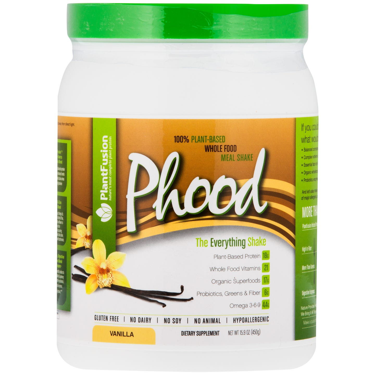 PlantFusion Meal Shake Vanilla 1lb, Phood - Rapid Diet Weight Loss Products Shop