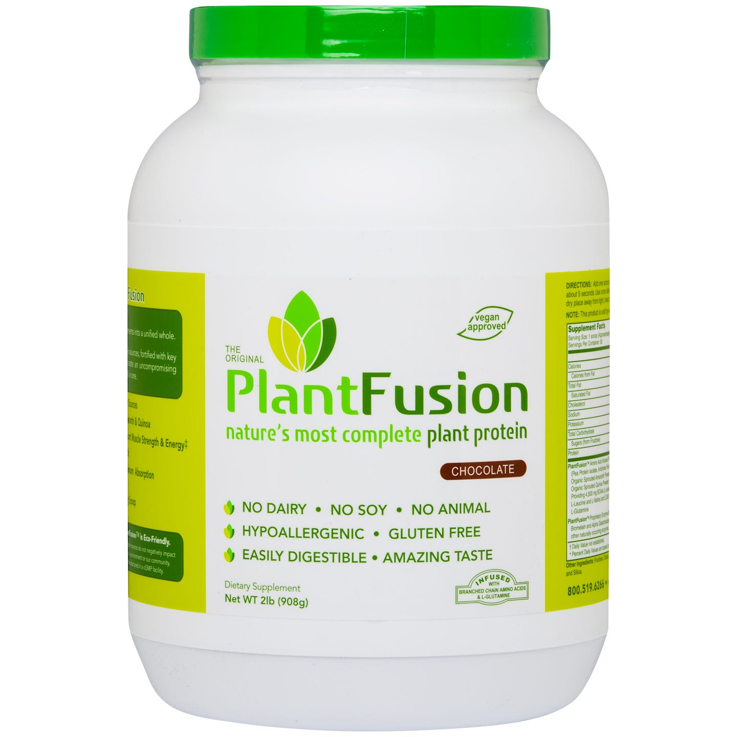 Plant Protein Powder Chocolate 2 lb, PlantFusion - Rapid Diet Weight Loss Products Shop