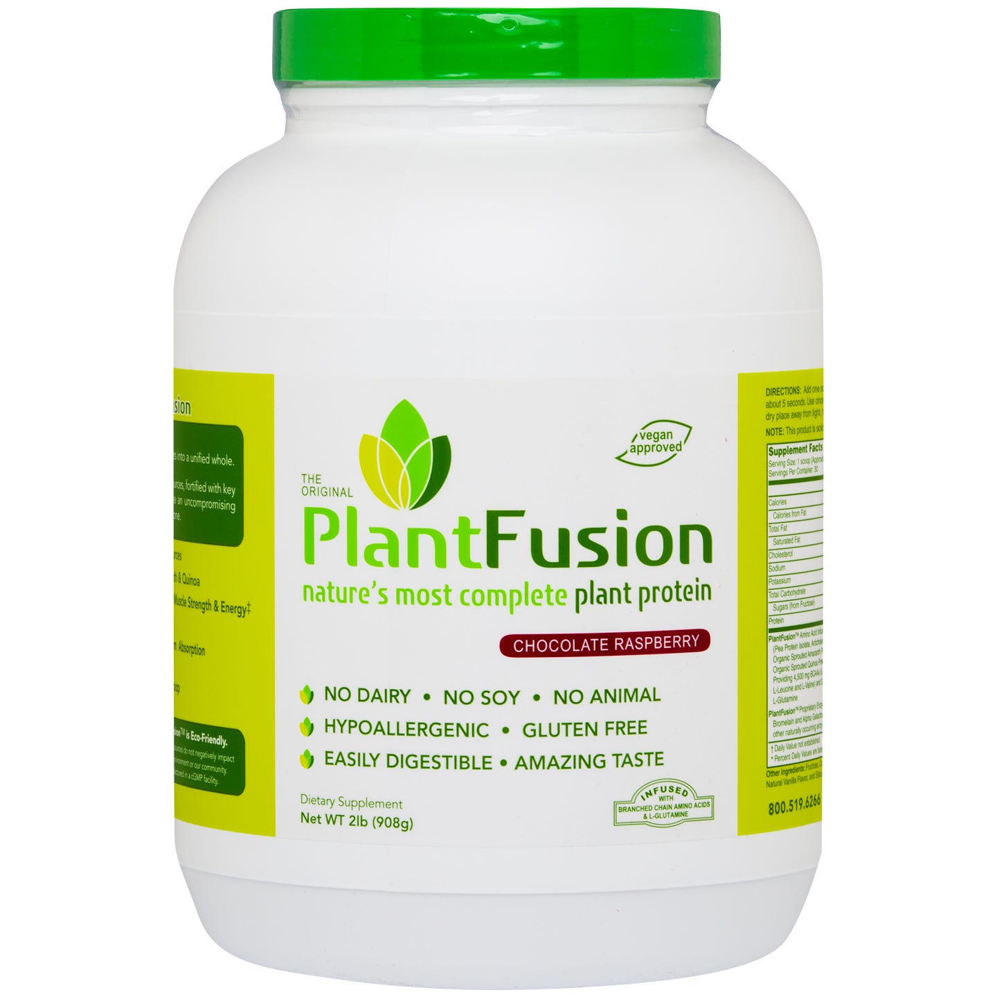 Plant Protein Powder Chocolate Raspberry 2 lb, PlantFusion - Rapid Diet Weight Loss Products Shop