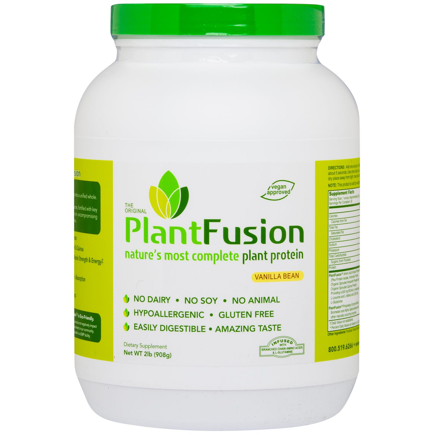 Plant Protein Powder Vanilla Bean 2 lb, PlantFusion - Rapid Diet Weight Loss Products Shop
