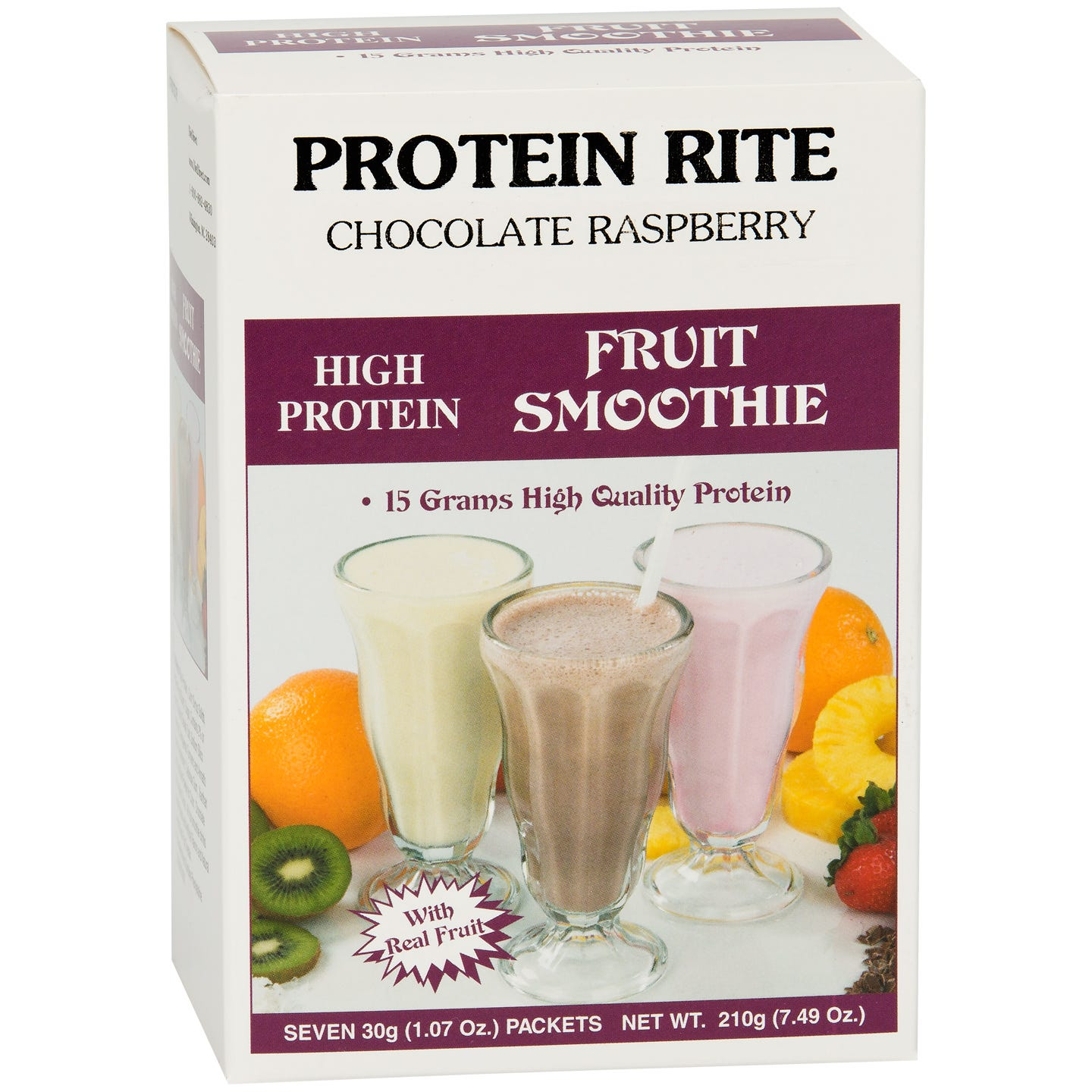 Protein Rite Fruit Smoothies - Chocolate Raspberry