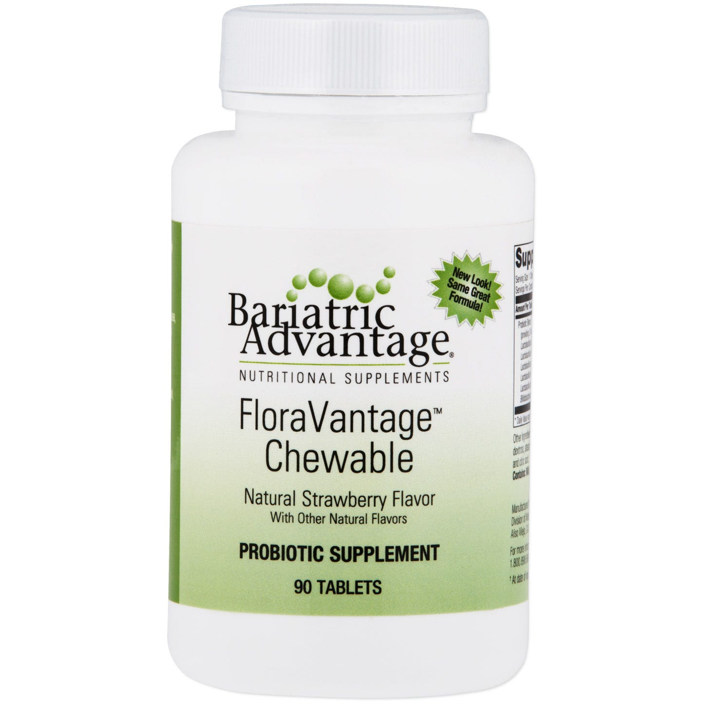 FloraVantage 150mg Natural Strawberry (90 ct) - Bariatric Advantage - Rapid Diet Weight Loss Products Shop