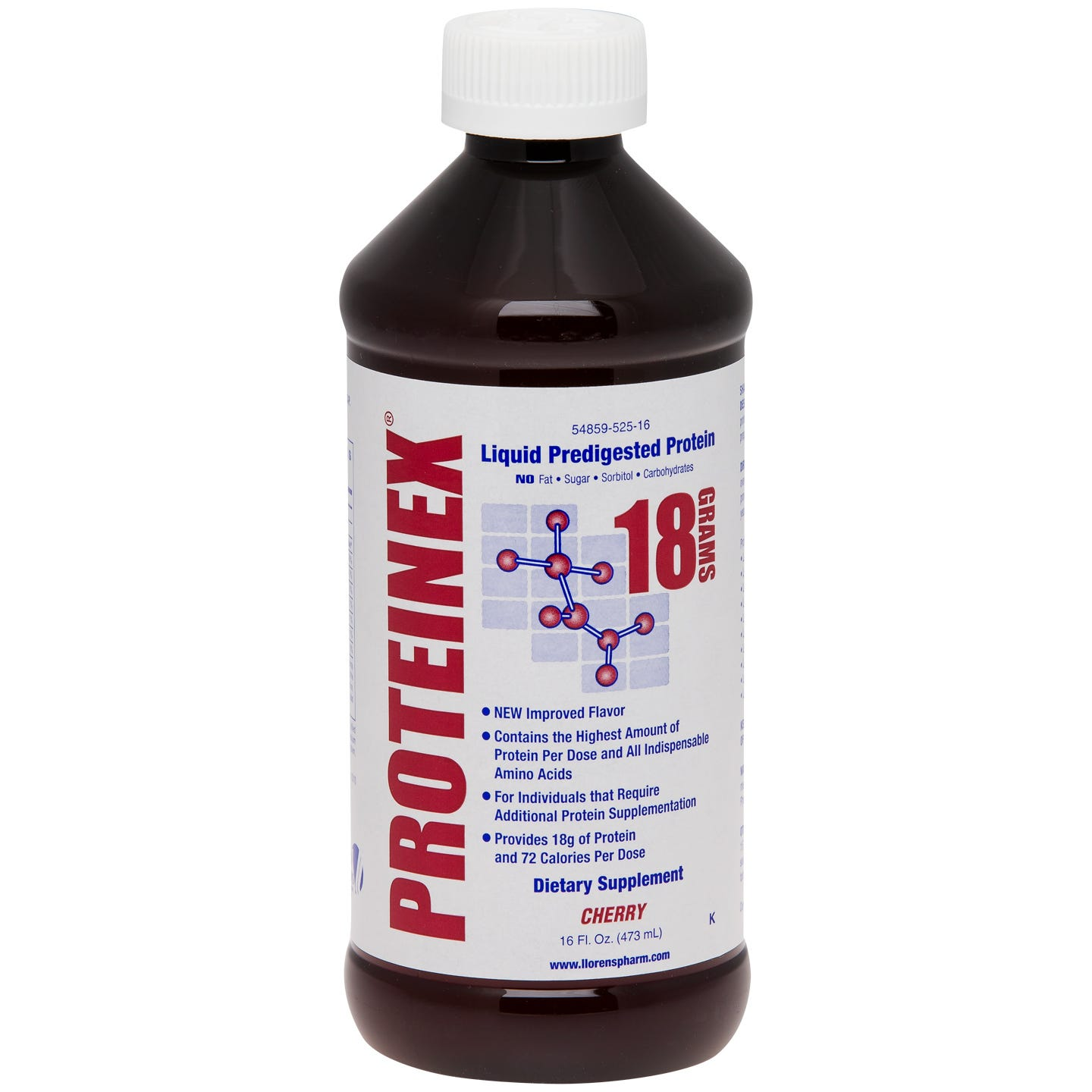 Proteinex-18 Liquid Protein Cherry 16 fl oz - Rapid Diet Weight Loss Products Shop