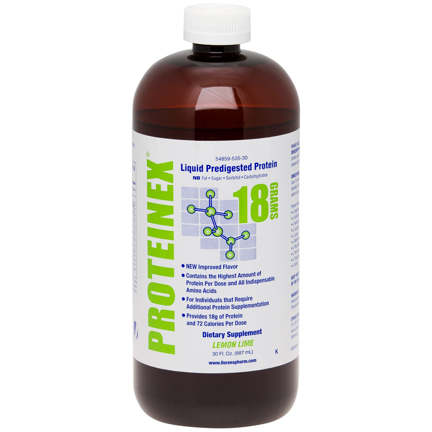 Proteinex-18 Liquid Protein Lemon Lime 30 fl oz - Rapid Diet Weight Loss Products Shop