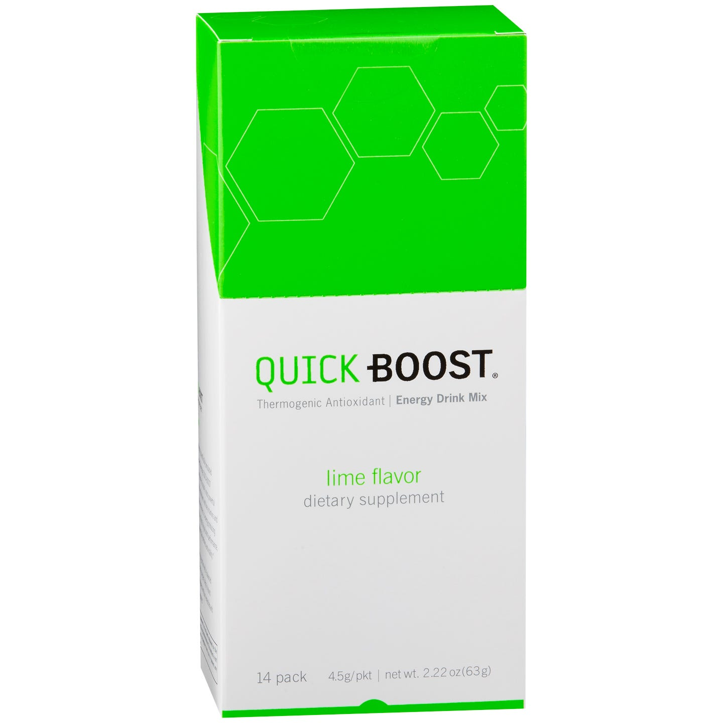 QUICK-BOOST Thermogenic Energy Drink Mix Lime (14 ct) - Totally Slim - Rapid Diet Weight Loss Products Shop