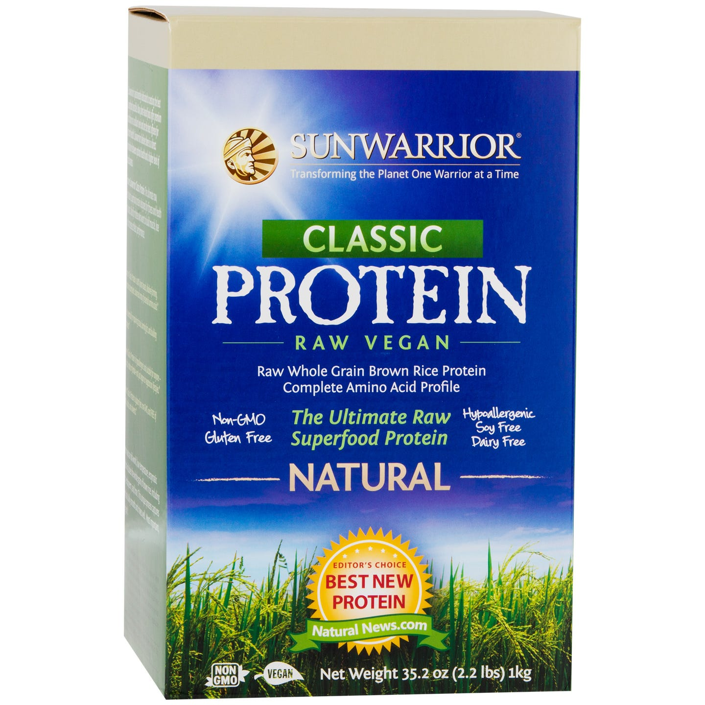 Classic Protein Natural 2.2lb, Sunwarrior - Rapid Diet Weight Loss Products Shop