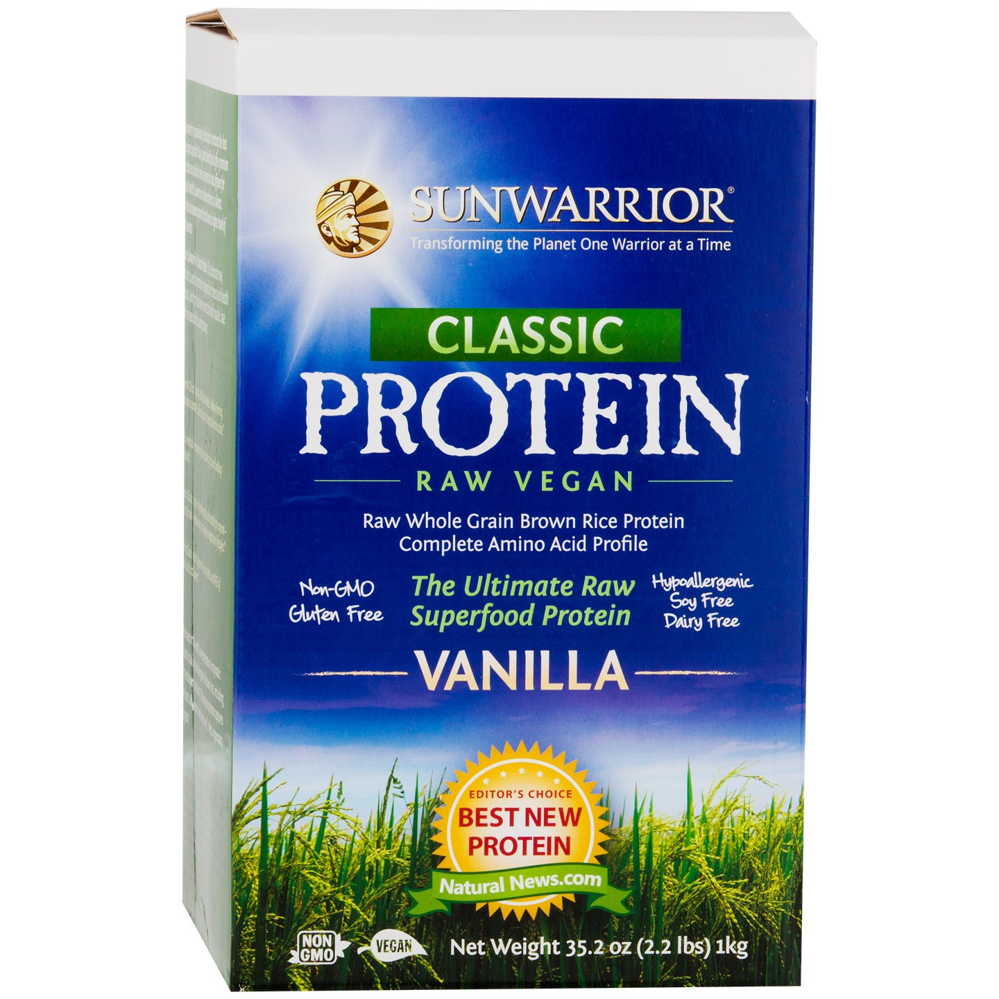 Classic Protein Vanilla 2.2lb, Sunwarrior - Rapid Diet Weight Loss Products Shop