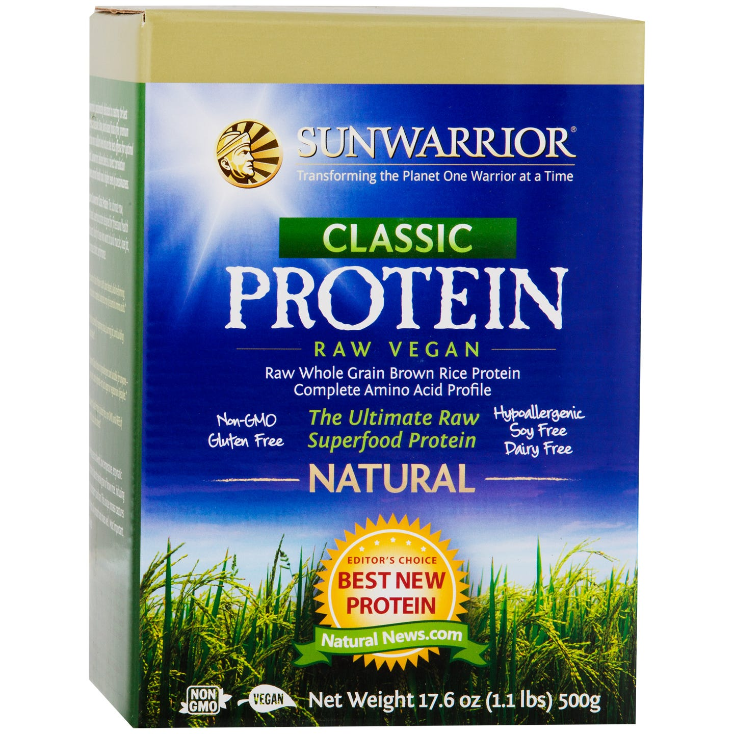 Classic Protein Natural 1.1lb, Sunwarrior - Rapid Diet Weight Loss Products Shop