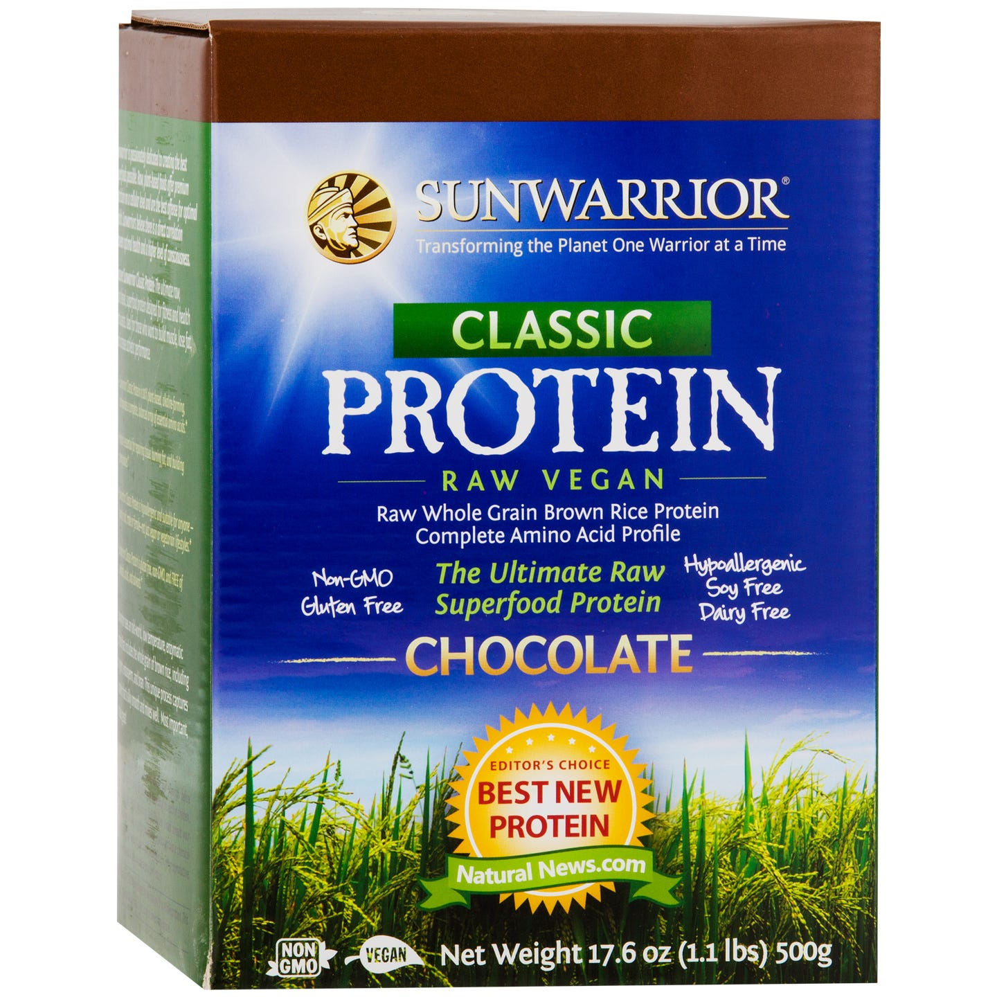 Classic Protein Chocolate 1.1lb, Sunwarrior - Rapid Diet Weight Loss Products Shop