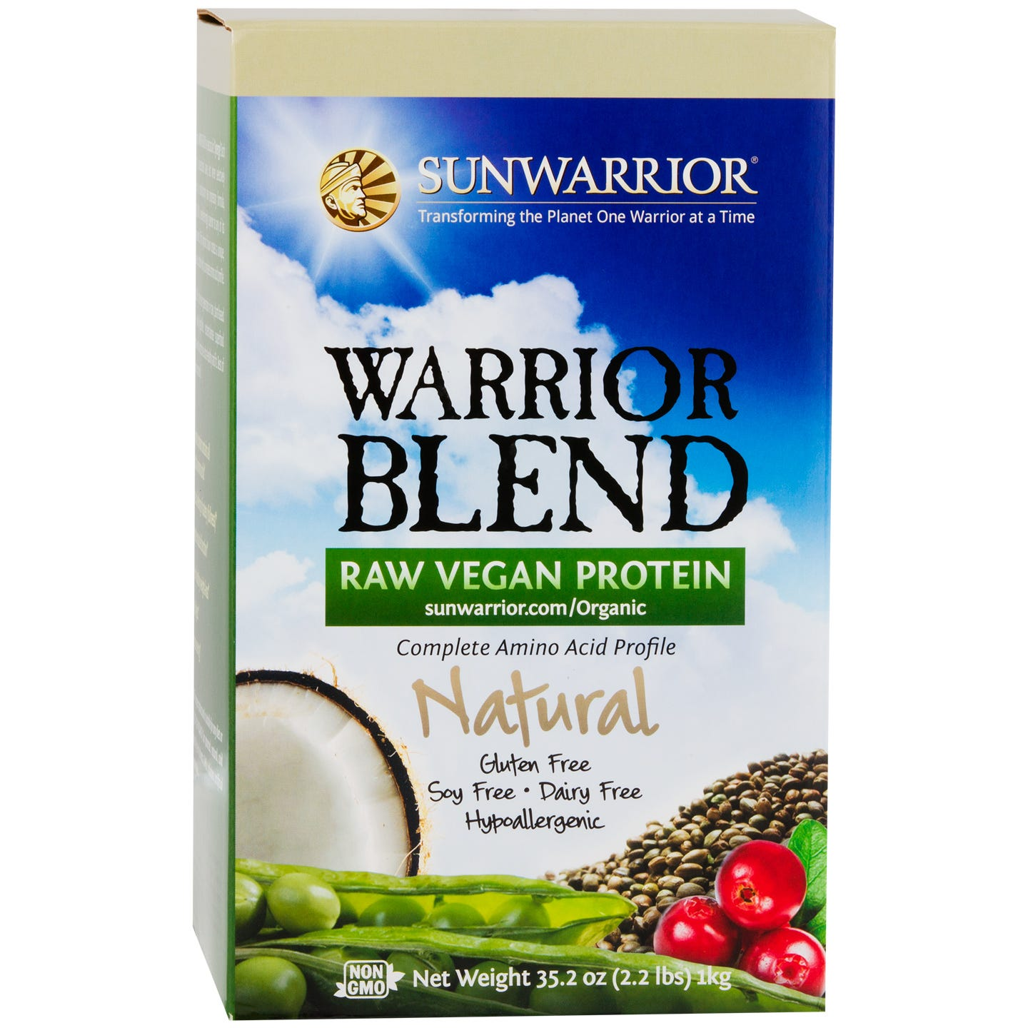 Warrior Blend Protein Natural 2.2lb, Sunwarrior - Rapid Diet Weight Loss Products Shop