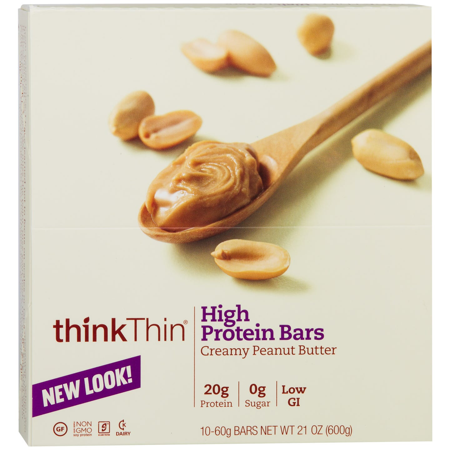 Protein Bar Creamy Peanut Butter (10 ct) - Think Thin Bars - Rapid Diet Weight Loss Products Shop