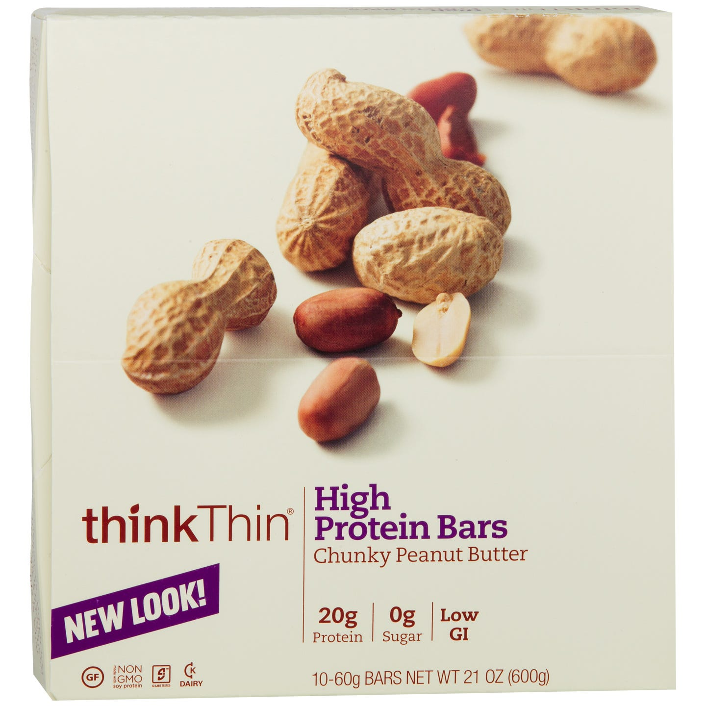 Protein Bar Chunky Peanut Butter (10 ct) - Think Thin Bars - Rapid Diet Weight Loss Products Shop