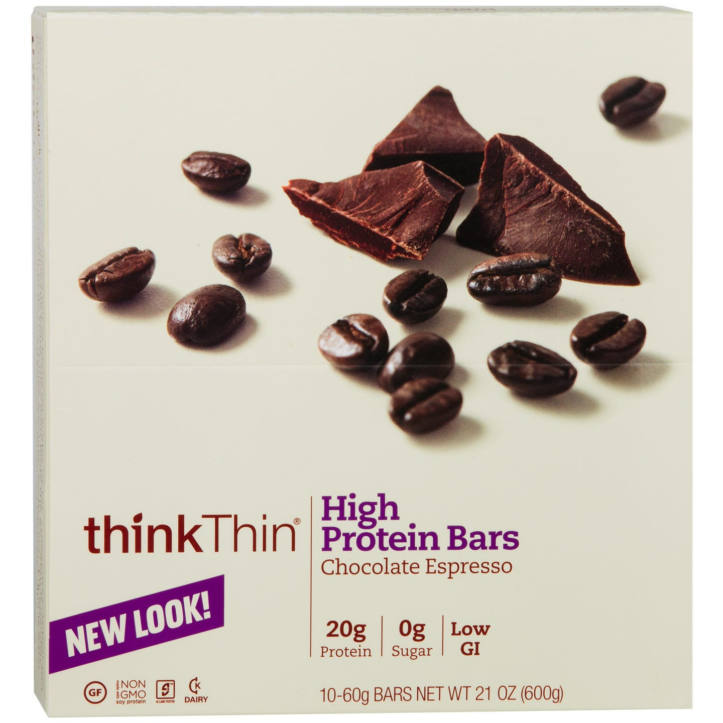 Protein Bar Chocolate Espresso (10 ct) - Think Thin Bars - Rapid Diet Weight Loss Products Shop