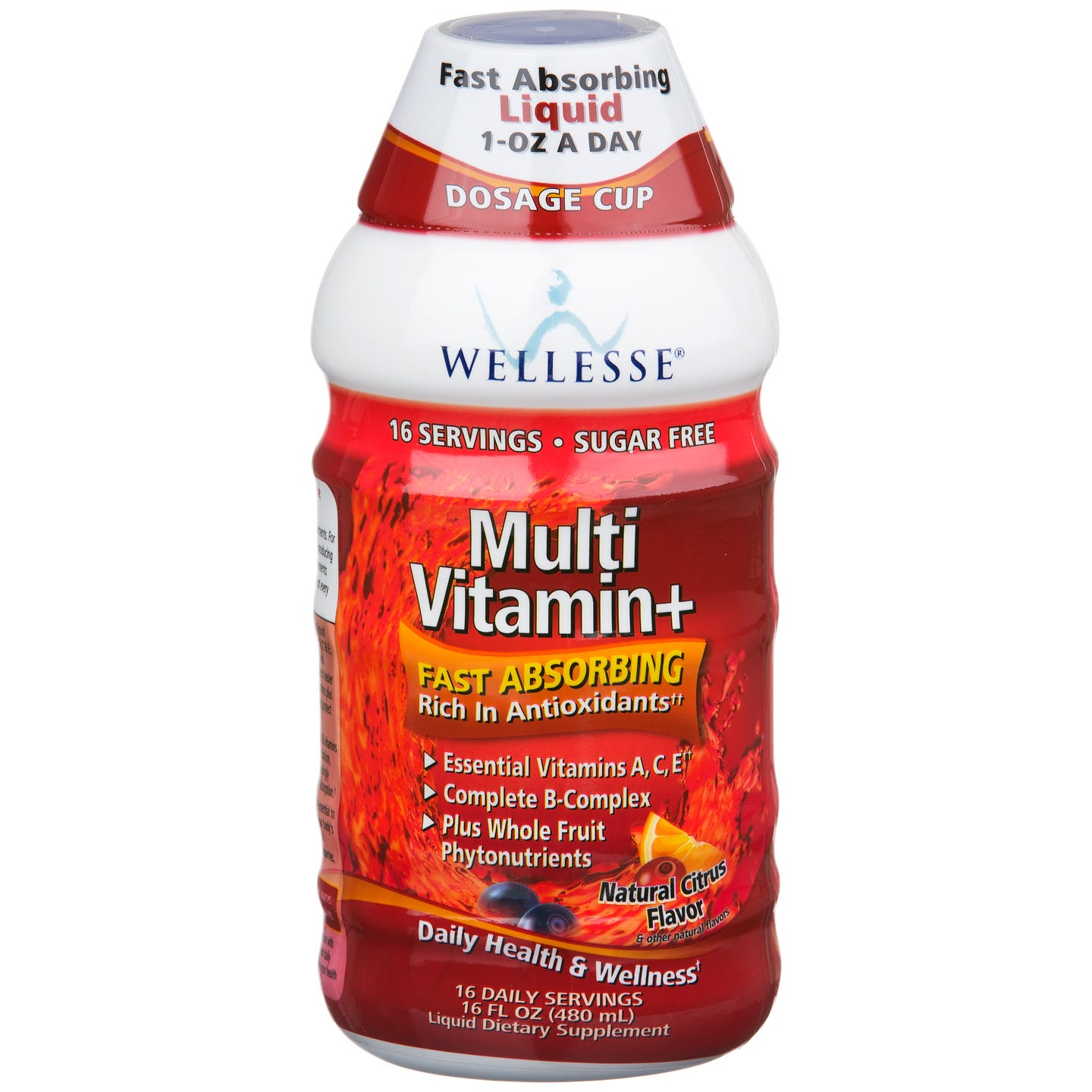 Liquid Multivitamin+ Natural Citrus 16 fl oz, Wellesse - Rapid Diet Weight Loss Products Shop