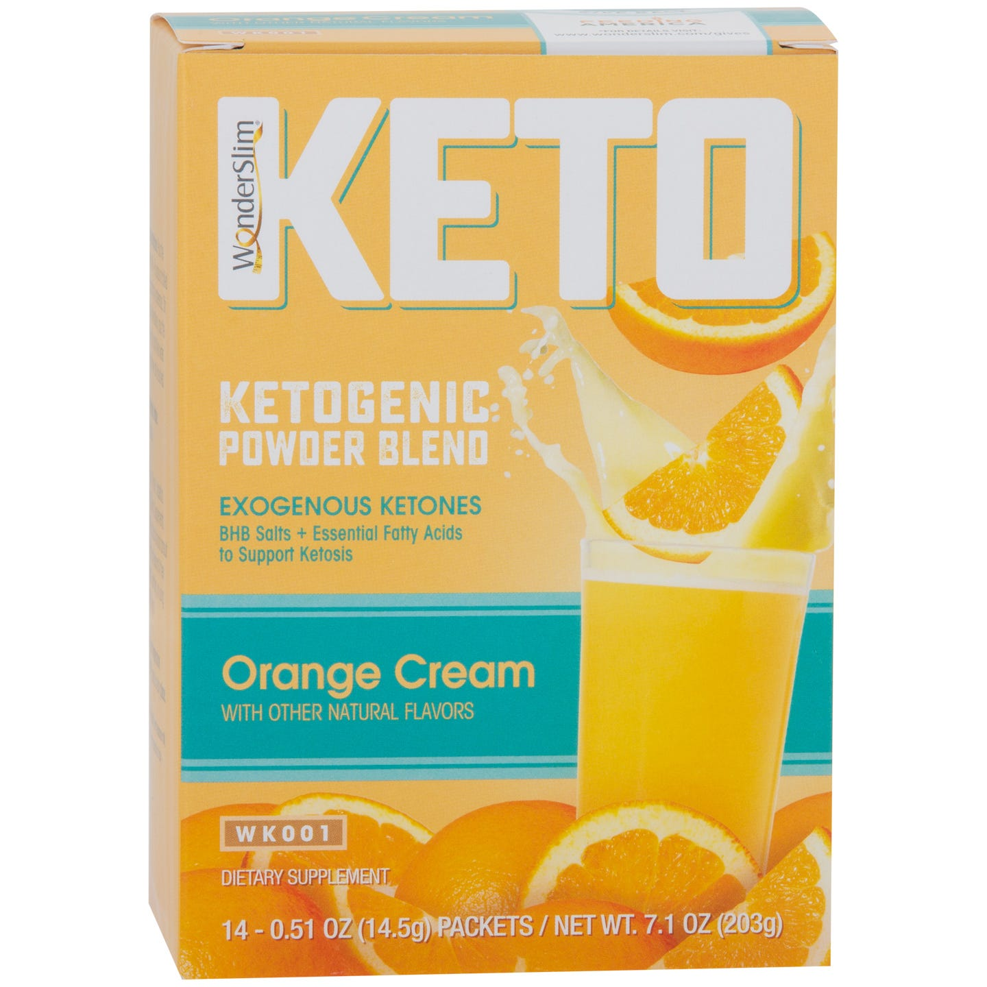WonderSlim KETO Ketogenic Powder Blend  Orange Cream - 14/Box