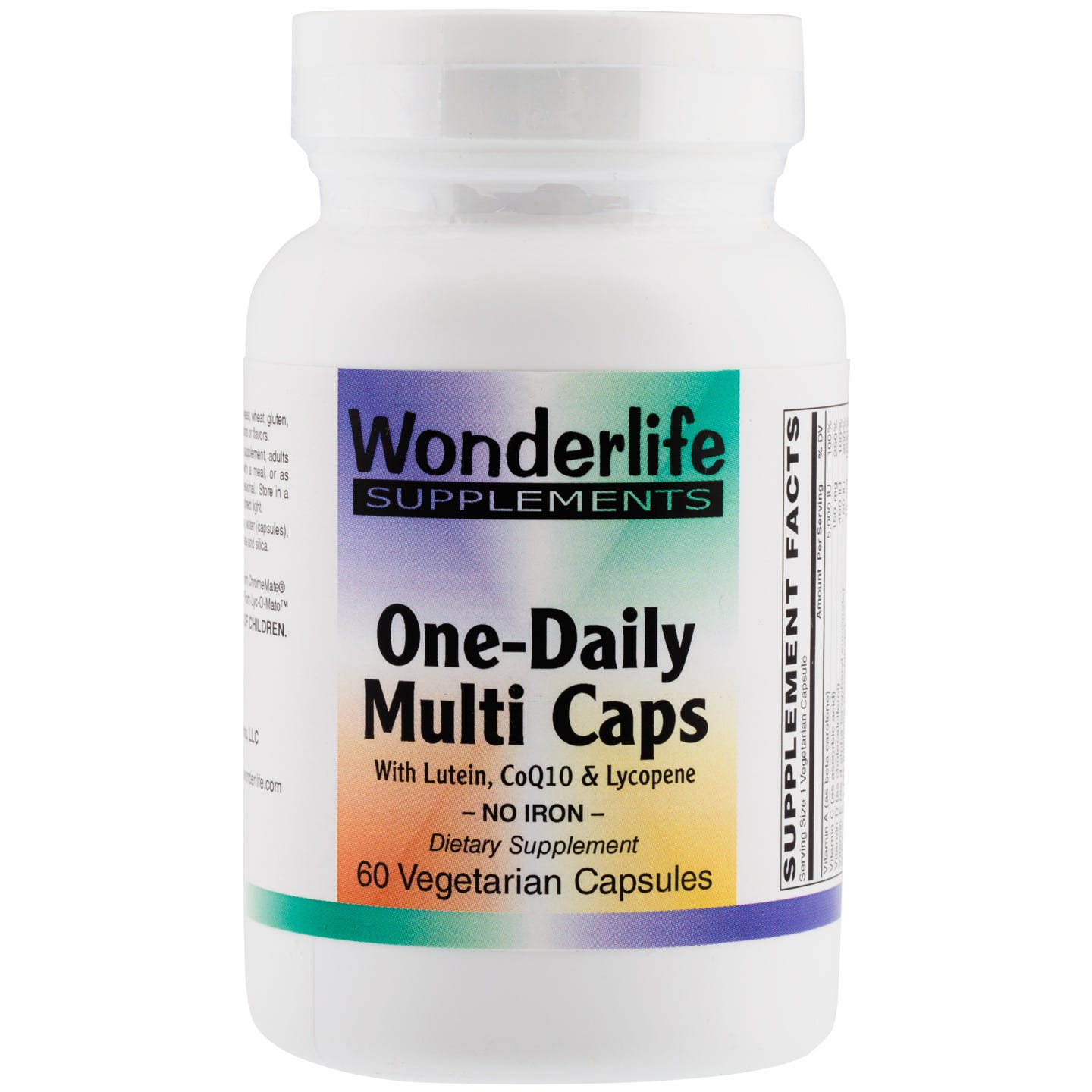 One-Daily Multi Caps, No Iron (60 Vcaps), Wonderlife - Rapid Diet Weight Loss Products Shop