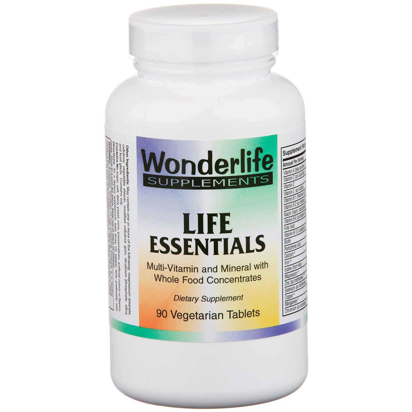 Life Essentials Multi-Vitamin & Mineral w/Whole Food (90 ct) - Wonderlife - Rapid Diet Weight Loss Products Shop