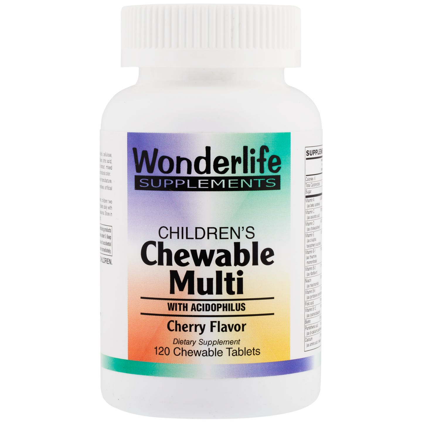 Children's Chewable Multi, Cherry (120 Tablets), Wonderlife - Rapid Diet Weight Loss Products Shop