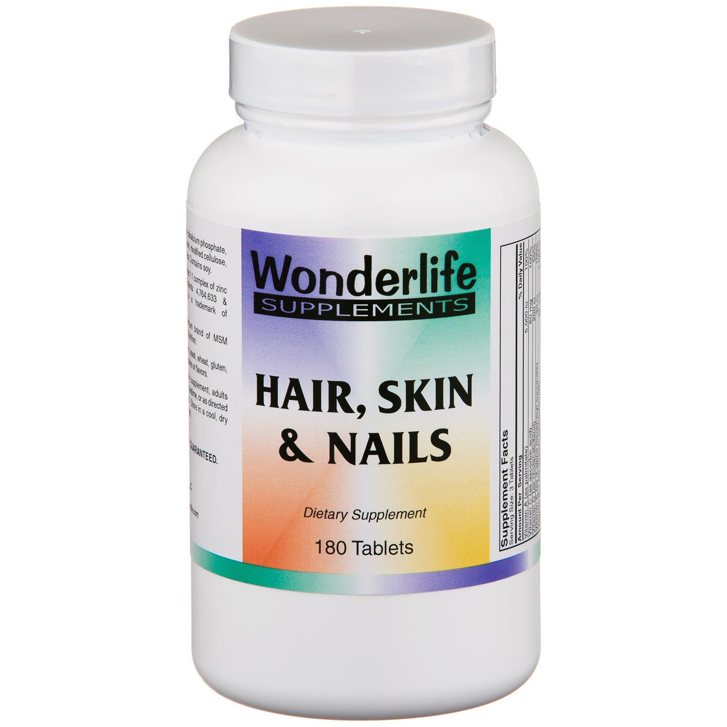 Hair Skin & Nails Supplement (180 ct) - Wonderlife - Rapid Diet Weight Loss Products Shop