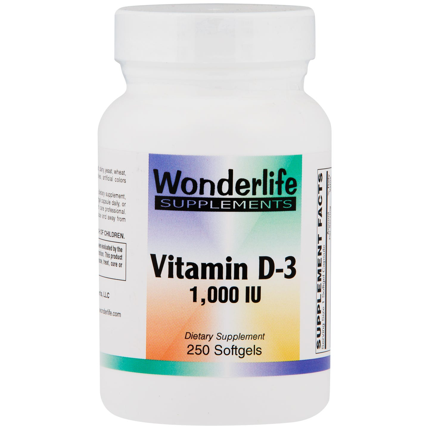 Vitamin D-3 1000 IU (250 ct) - Wonderlife - Rapid Diet Weight Loss Products Shop