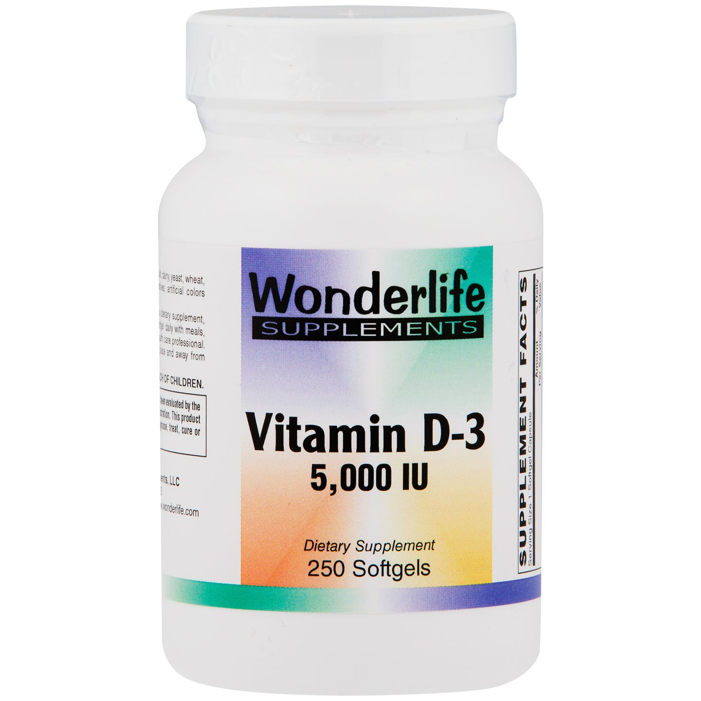 Vitamin D-3 5000 IU (250 ct) - Wonderlife - Rapid Diet Weight Loss Products Shop