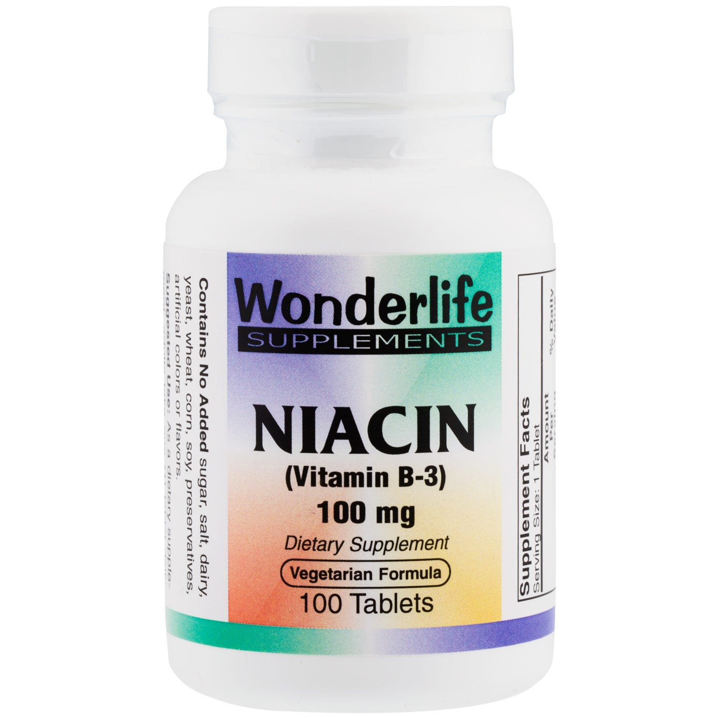 Niacin B-3, 100 mg (100 Tablets), Wonderlife - Rapid Diet Weight Loss Products Shop
