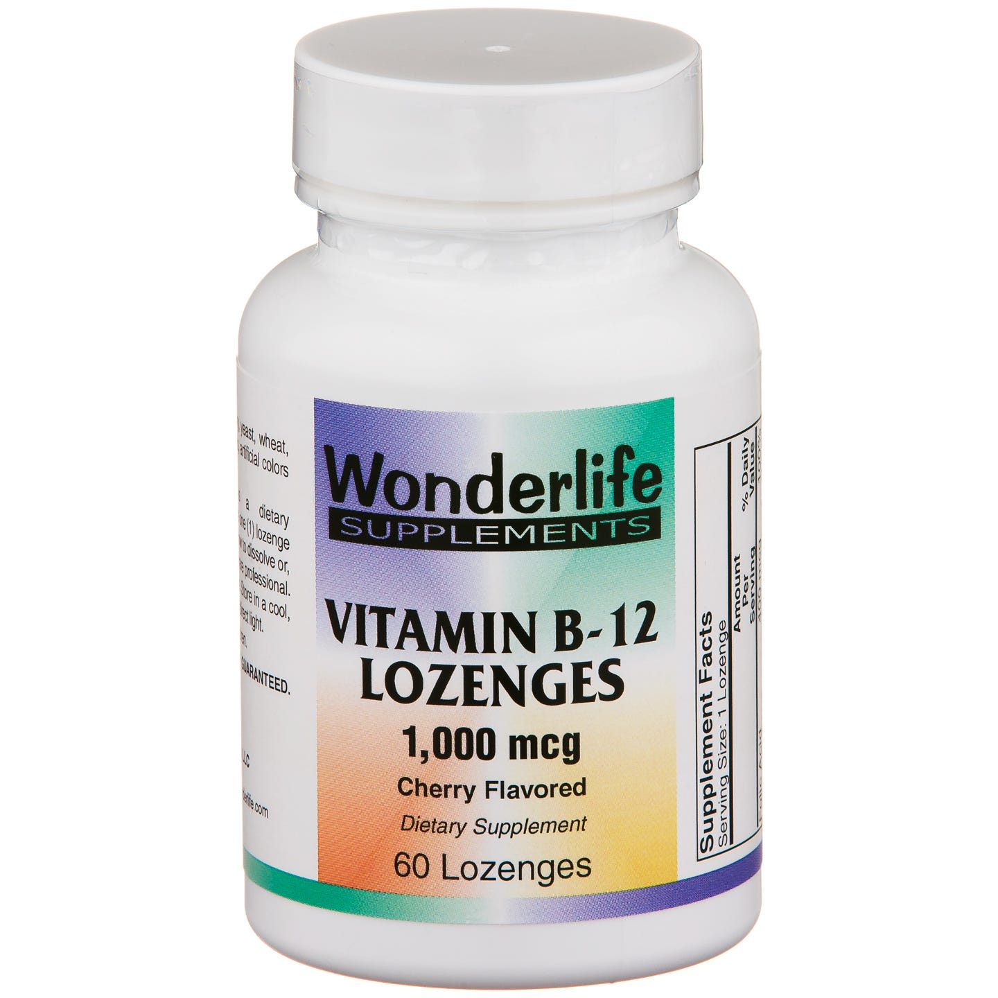 Vitamin B12 Sublingual 1000 mcg (60 ct) - Wonderlife - Rapid Diet Weight Loss Products Shop