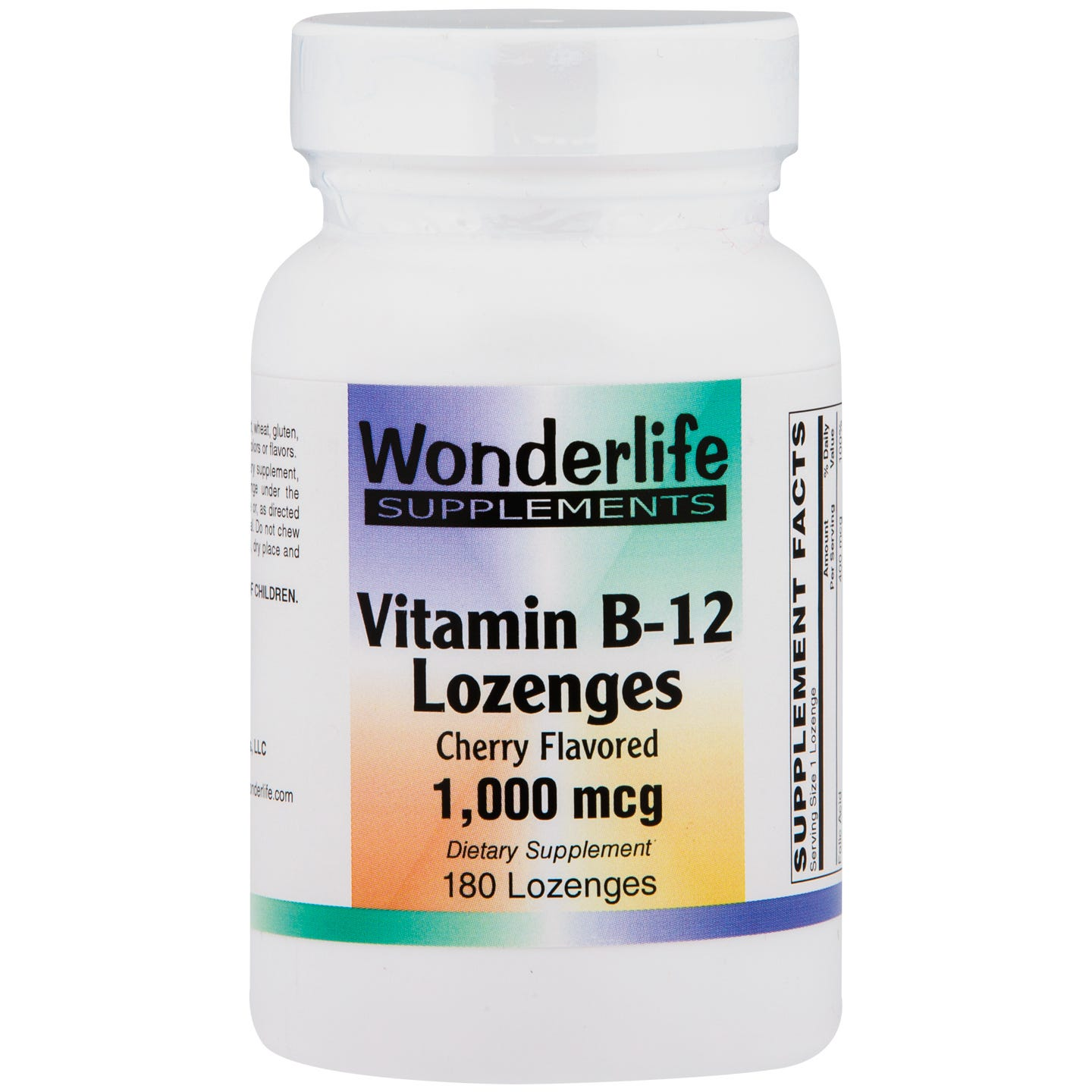 Vitamin B12 Lozenges, 1000 mcg (180 ct), Wonderlife - Rapid Diet Weight Loss Products Shop