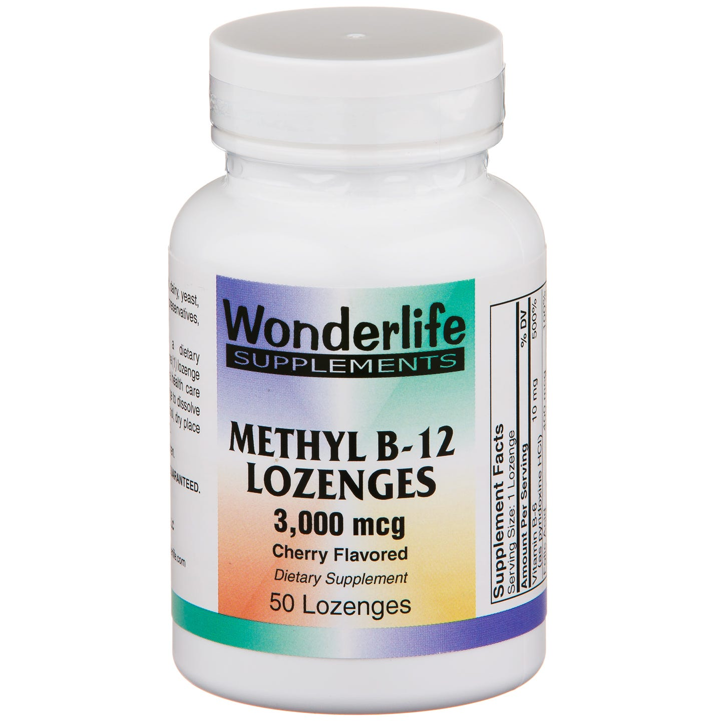 Vitamin B12, Methyl Sublingual 3000 mcg