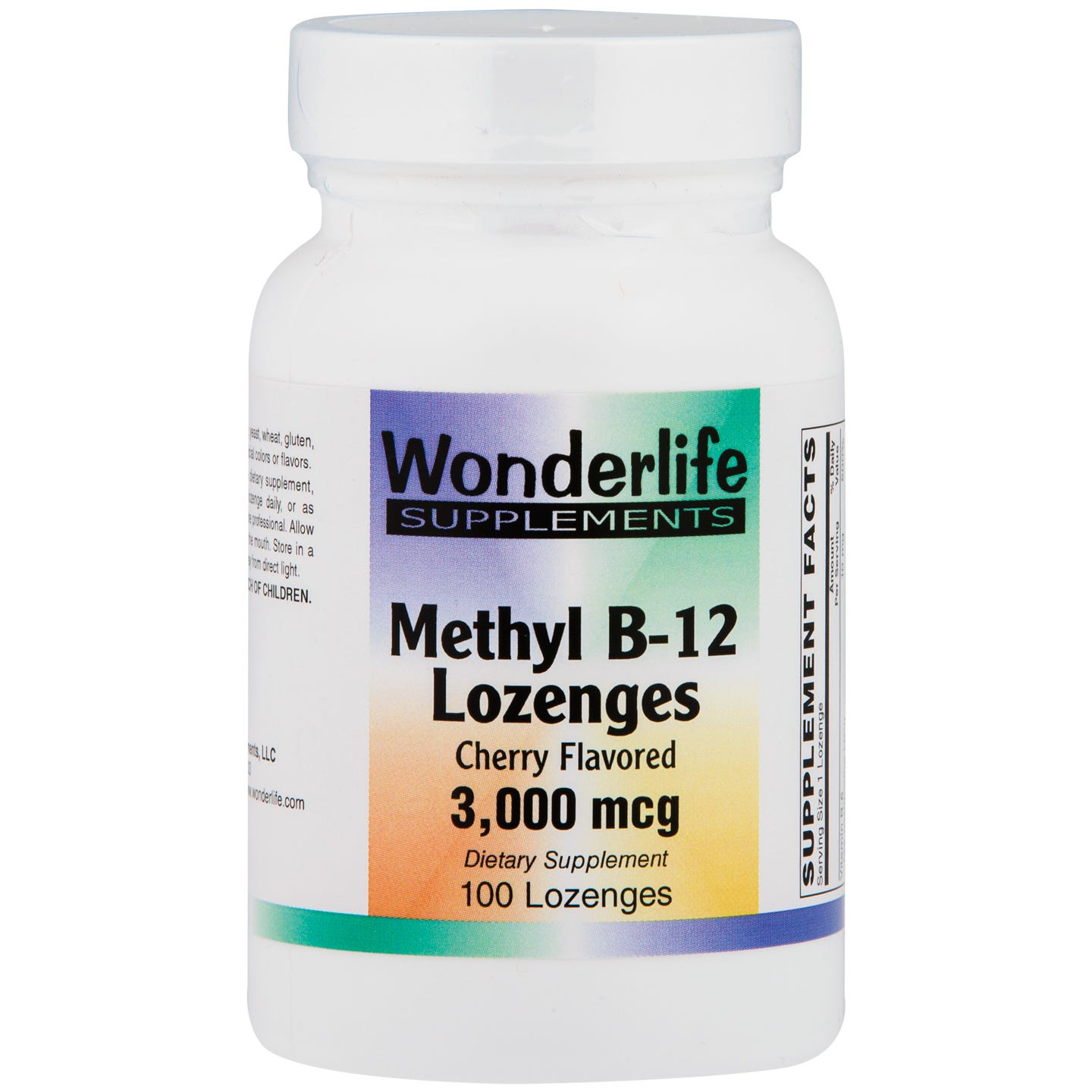 Methyl Vitamin B12 Lozenges, 3000 mcg (100 ct), Wonderlife - Rapid Diet Weight Loss Products Shop