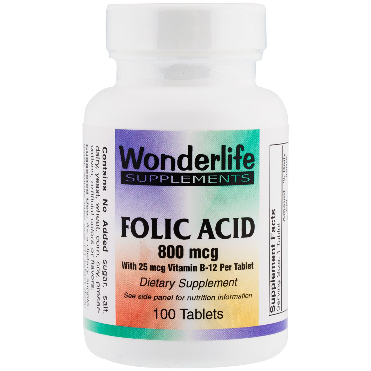 Folic Acid, 800 mcg (100 Tablets), Wonderlife - Rapid Diet Weight Loss Products Shop