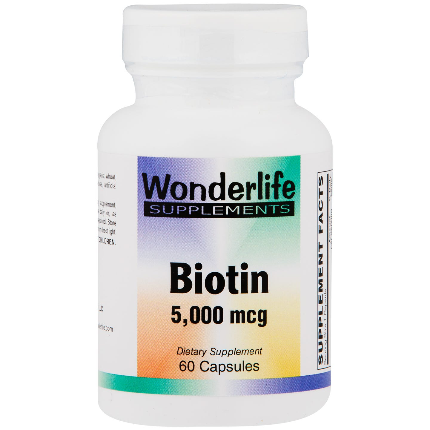 Biotin 5000 mcg (60 ct) - Wonderlife - Rapid Diet Weight Loss Products Shop