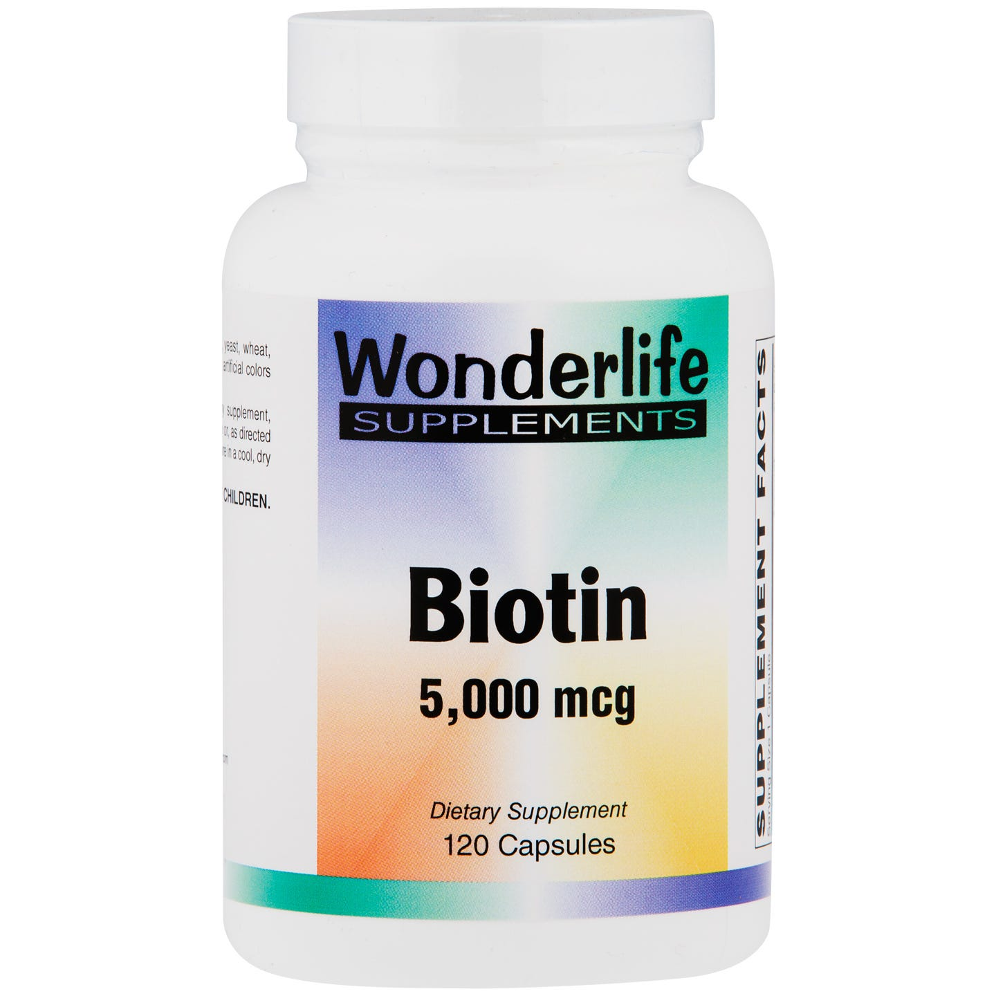 Biotin 5000 mcg (120 ct) - Wonderlife - Rapid Diet Weight Loss Products Shop