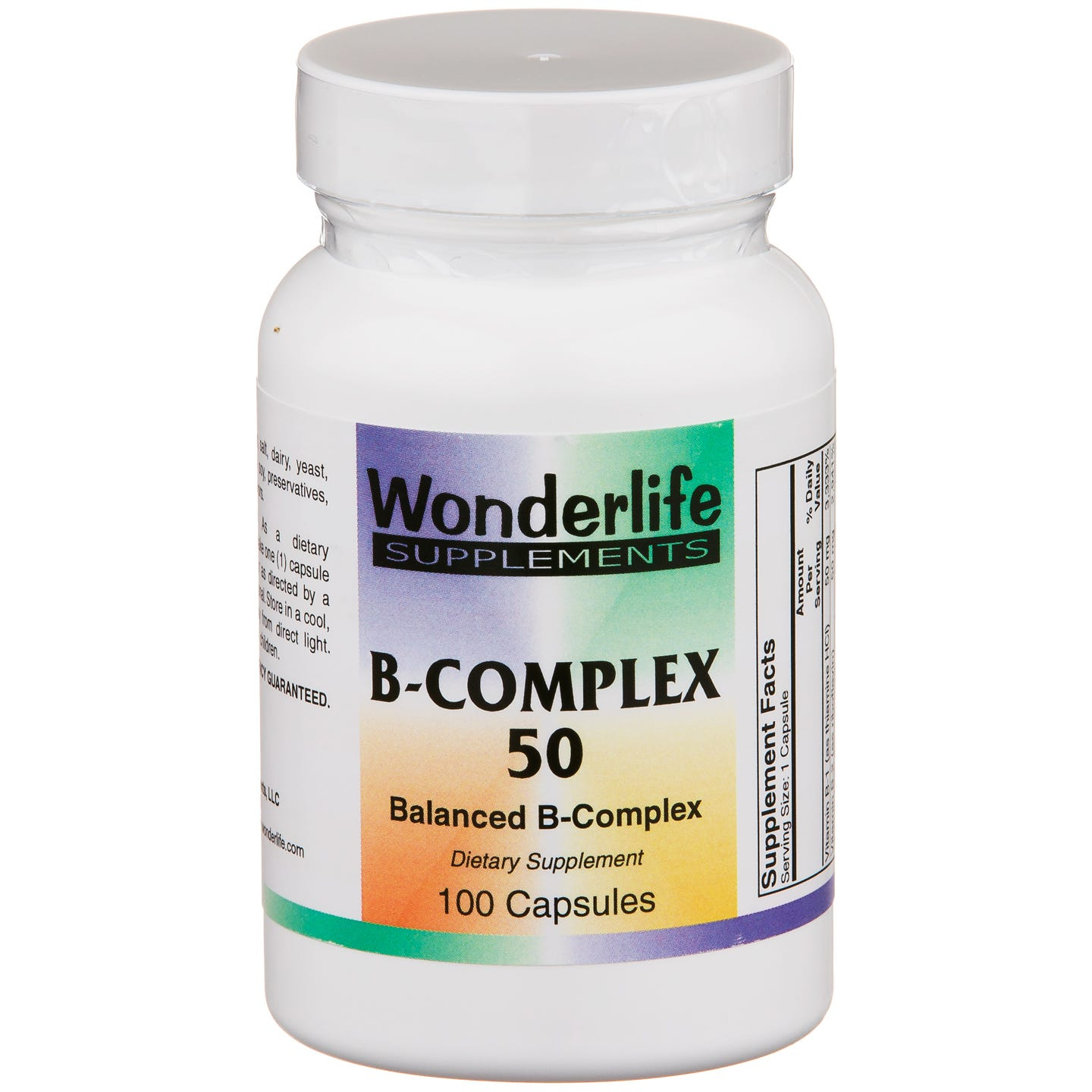 Vitamin B-Complex 50 (100 ct) - Wonderlife - Rapid Diet Weight Loss Products Shop